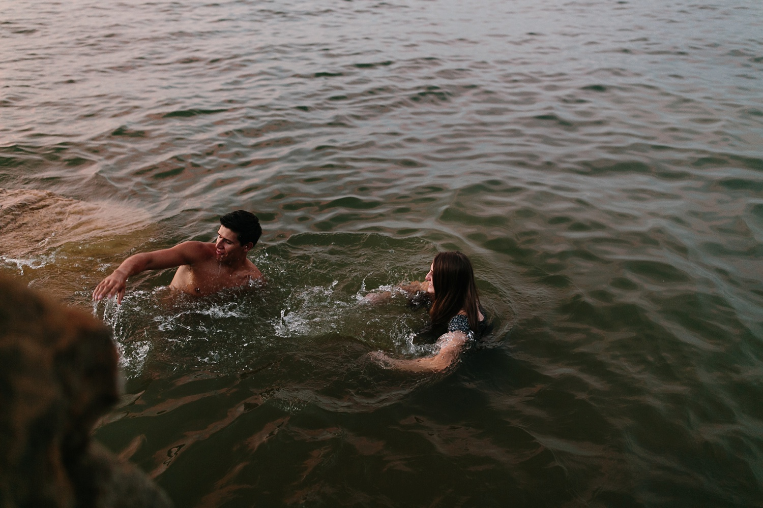 adventure engagement session that ended with jumping in the lake in Grapevine, TX by North Texas Wedding Photographer Rachel Meagan Photography _ 65