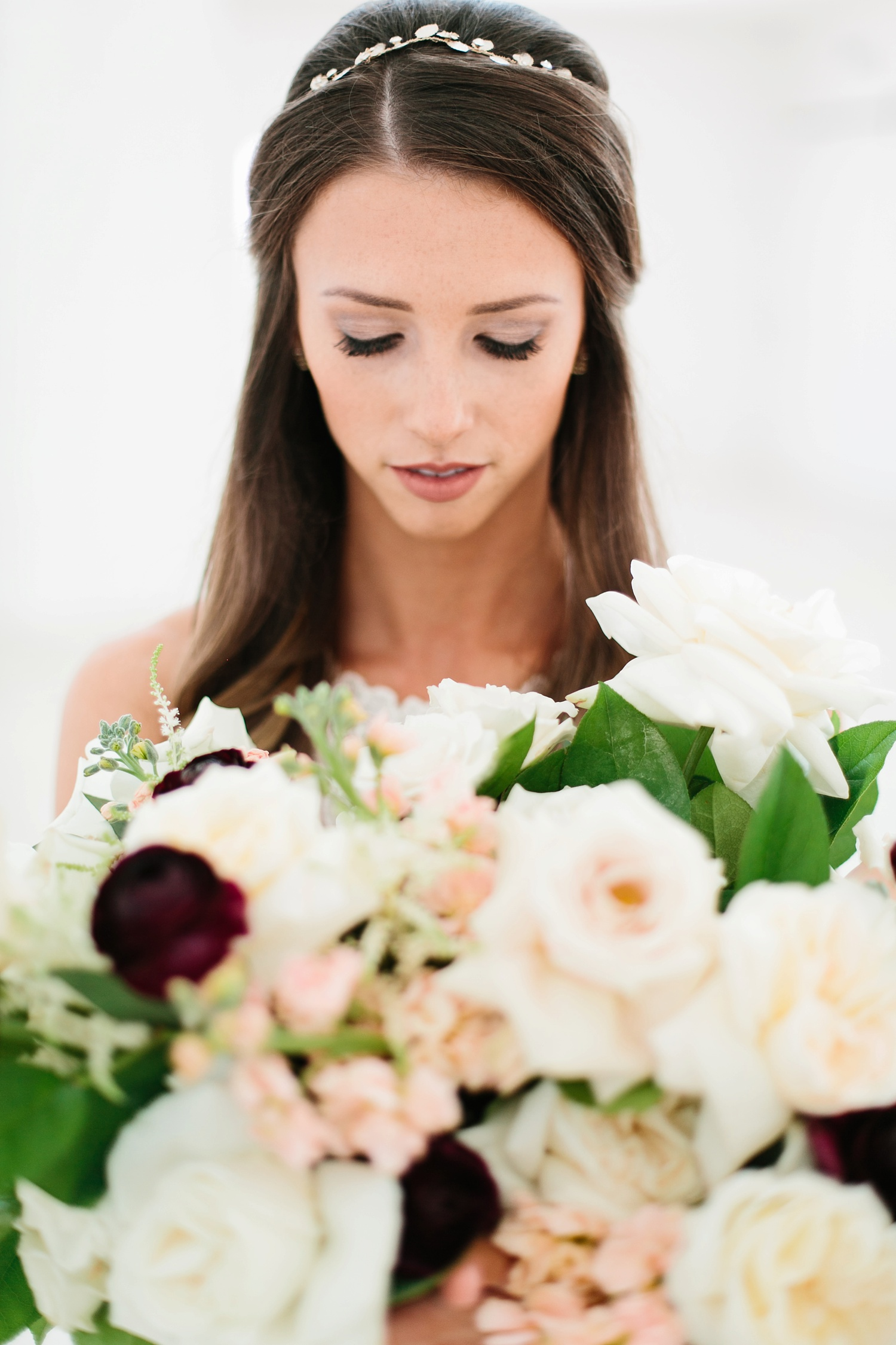 an all white minimialist style bridal session with burgundy and blush accents at The Nest at Ruth Farms in Ponder, Texas by North Texas Wedding Photographer Rachel Meagan Photography010