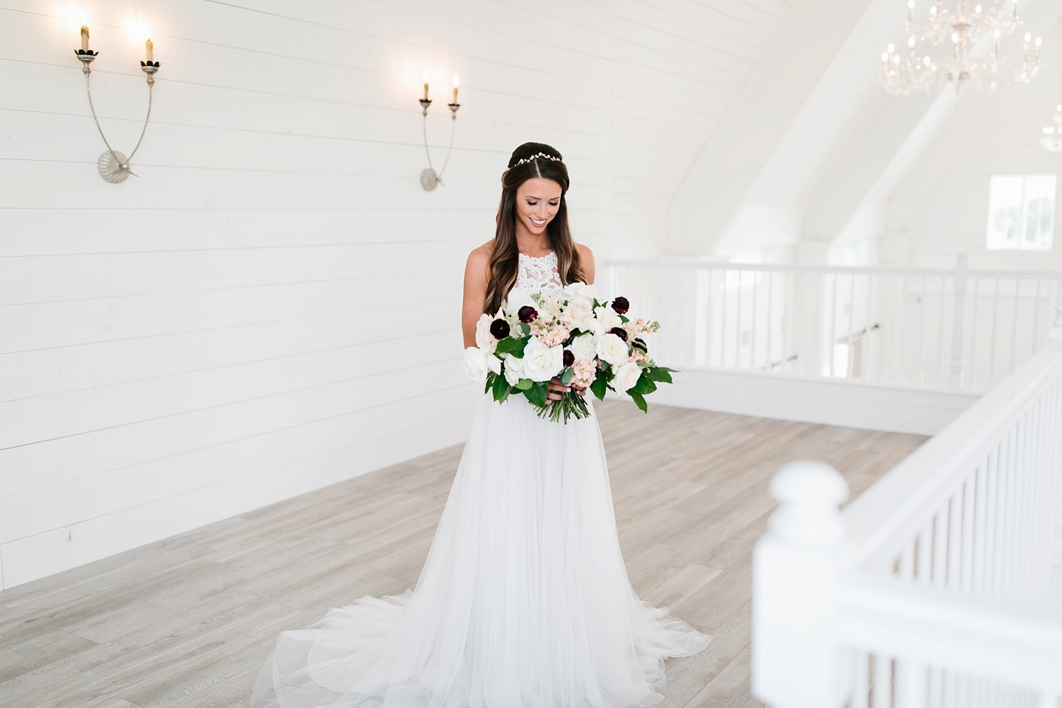 an all white minimialist style bridal session with burgundy and blush accents at The Nest at Ruth Farms in Ponder, Texas by North Texas Wedding Photographer Rachel Meagan Photography026