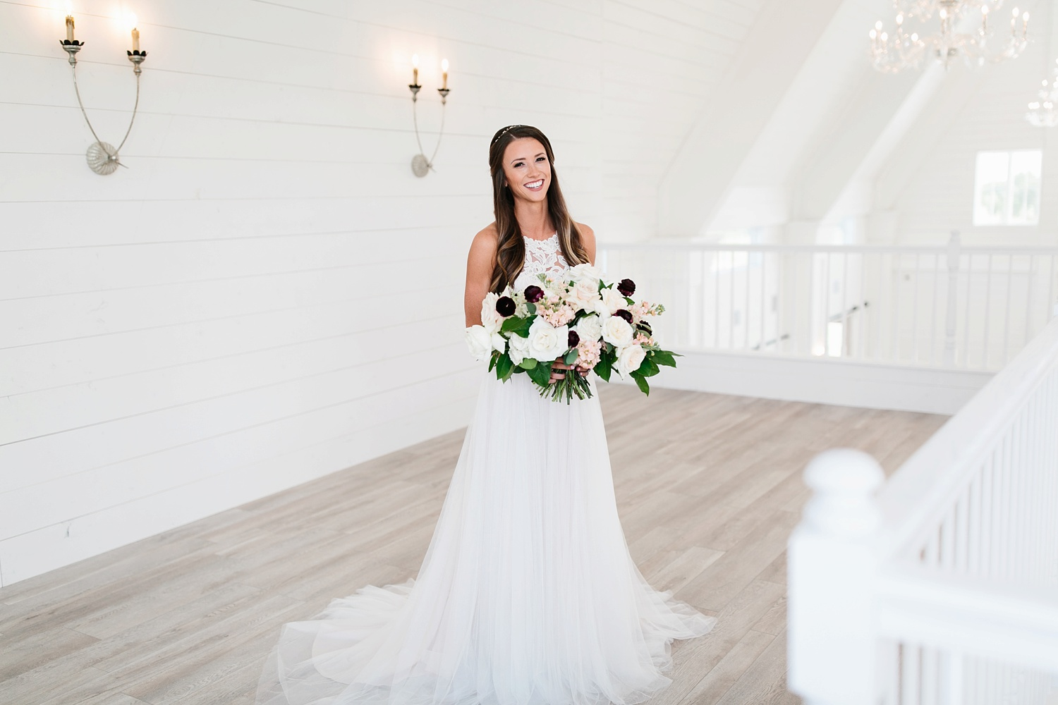 an all white minimialist style bridal session with burgundy and blush accents at The Nest at Ruth Farms in Ponder, Texas by North Texas Wedding Photographer Rachel Meagan Photography027