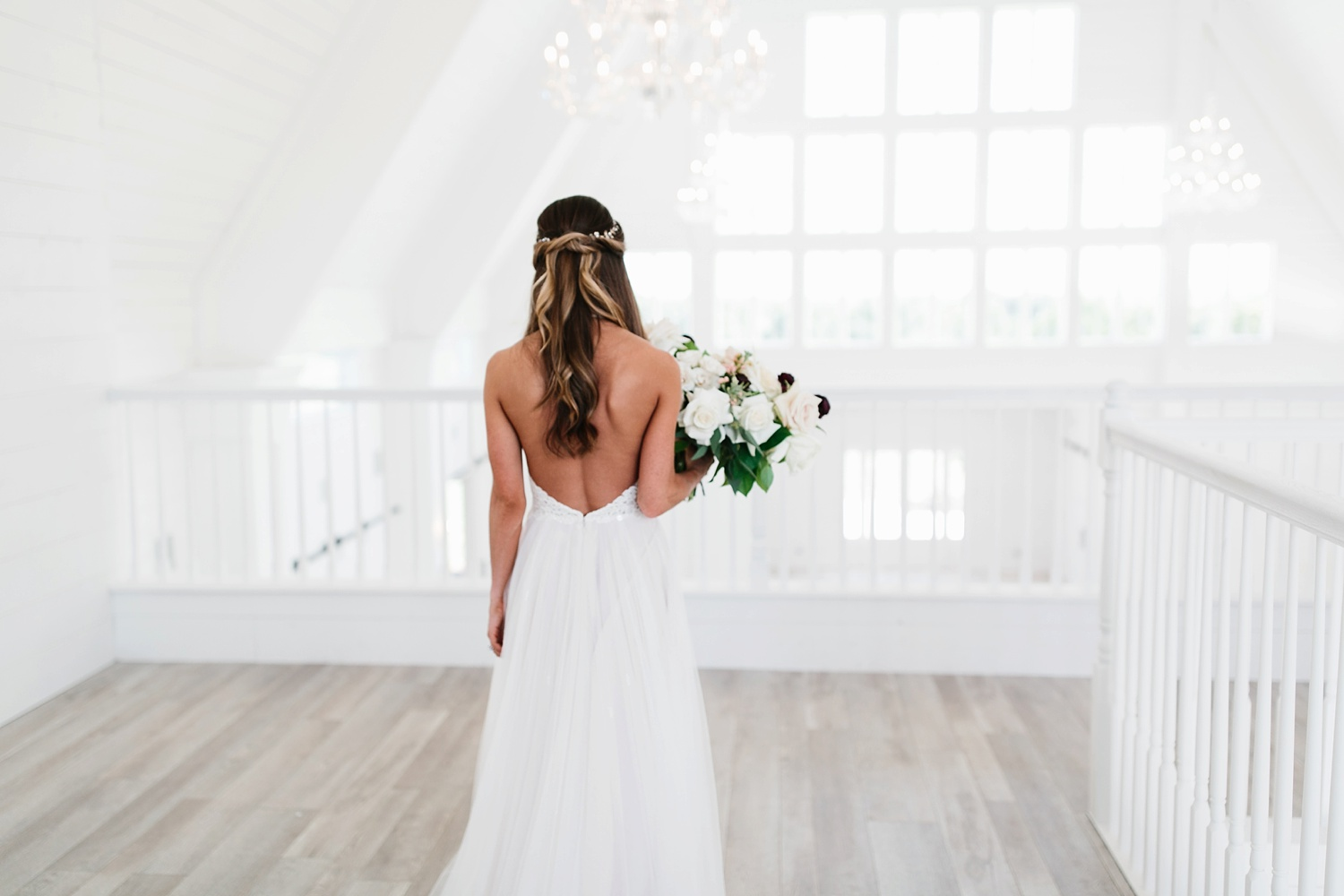 an all white minimialist style bridal session with burgundy and blush accents at The Nest at Ruth Farms in Ponder, Texas by North Texas Wedding Photographer Rachel Meagan Photography028