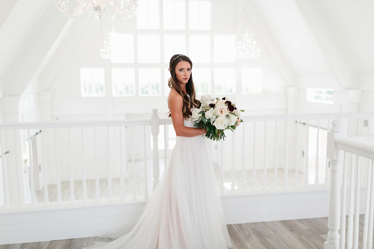 an all white minimialist style bridal session with burgundy and blush accents at The Nest at Ruth Farms in Ponder, Texas by North Texas Wedding Photographer Rachel Meagan Photography035