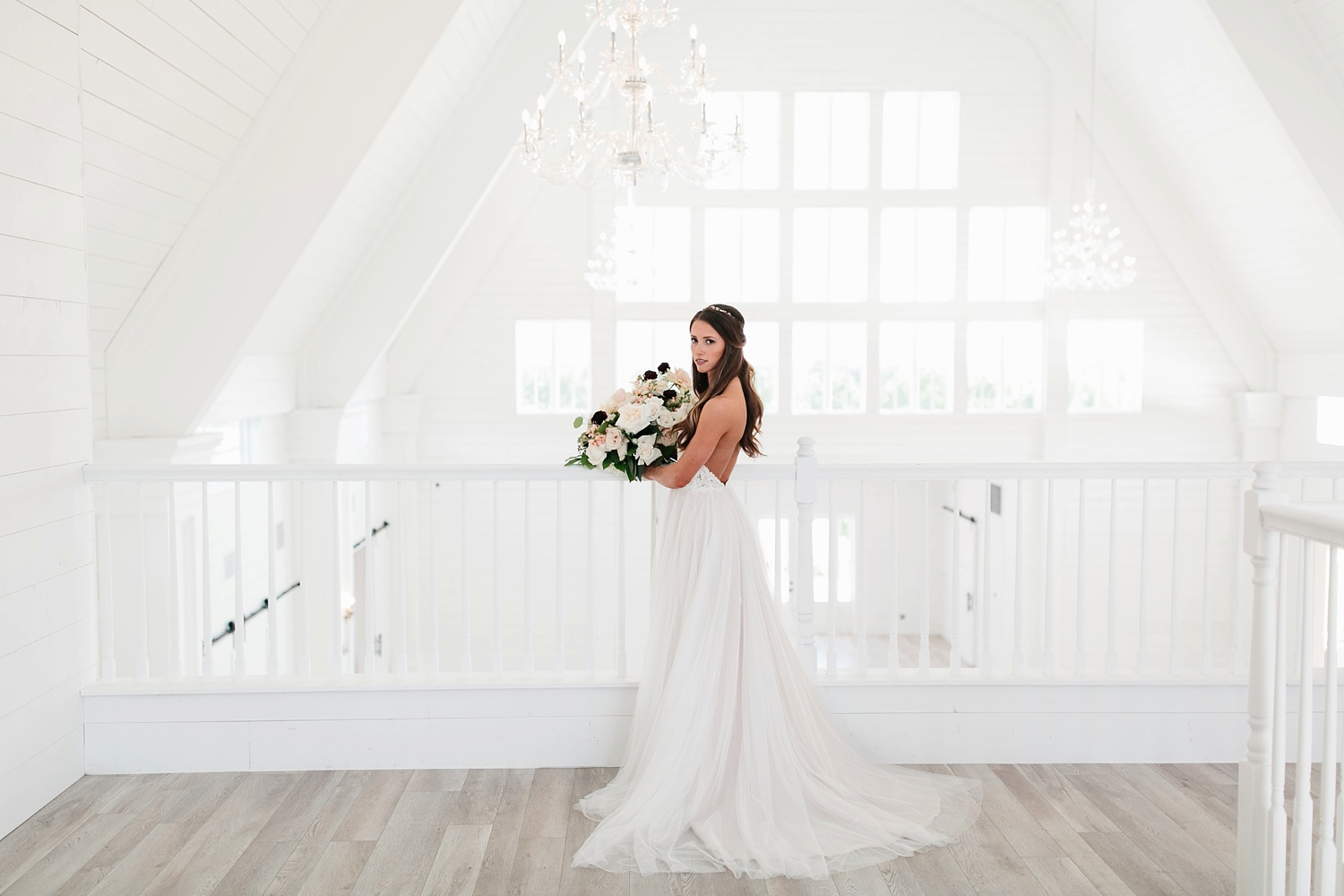 an all white minimialist style bridal session with burgundy and blush accents at The Nest at Ruth Farms in Ponder, Texas by North Texas Wedding Photographer Rachel Meagan Photography040