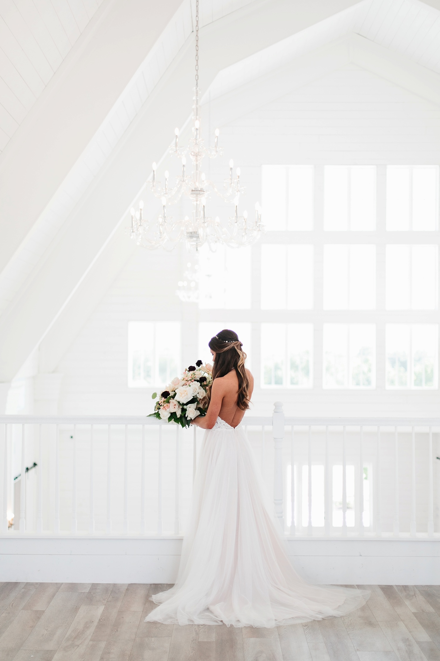 an all white minimialist style bridal session with burgundy and blush accents at The Nest at Ruth Farms in Ponder, Texas by North Texas Wedding Photographer Rachel Meagan Photography041