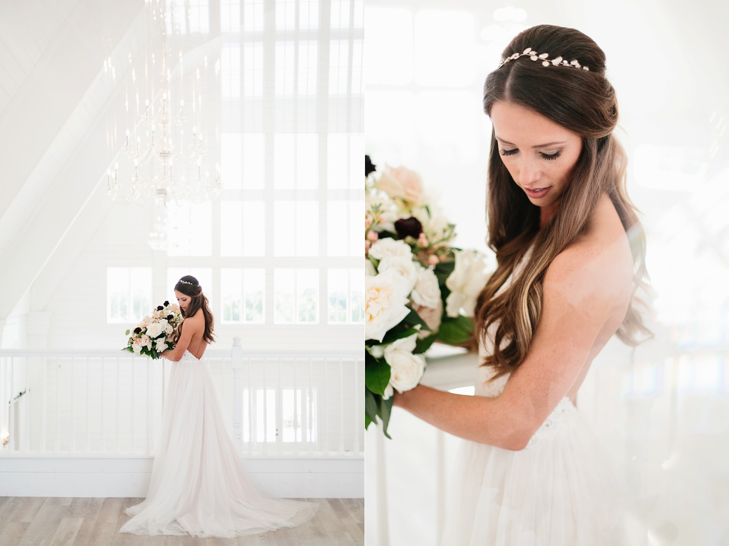 an all white minimialist style bridal session with burgundy and blush accents at The Nest at Ruth Farms in Ponder, Texas by North Texas Wedding Photographer Rachel Meagan Photography043