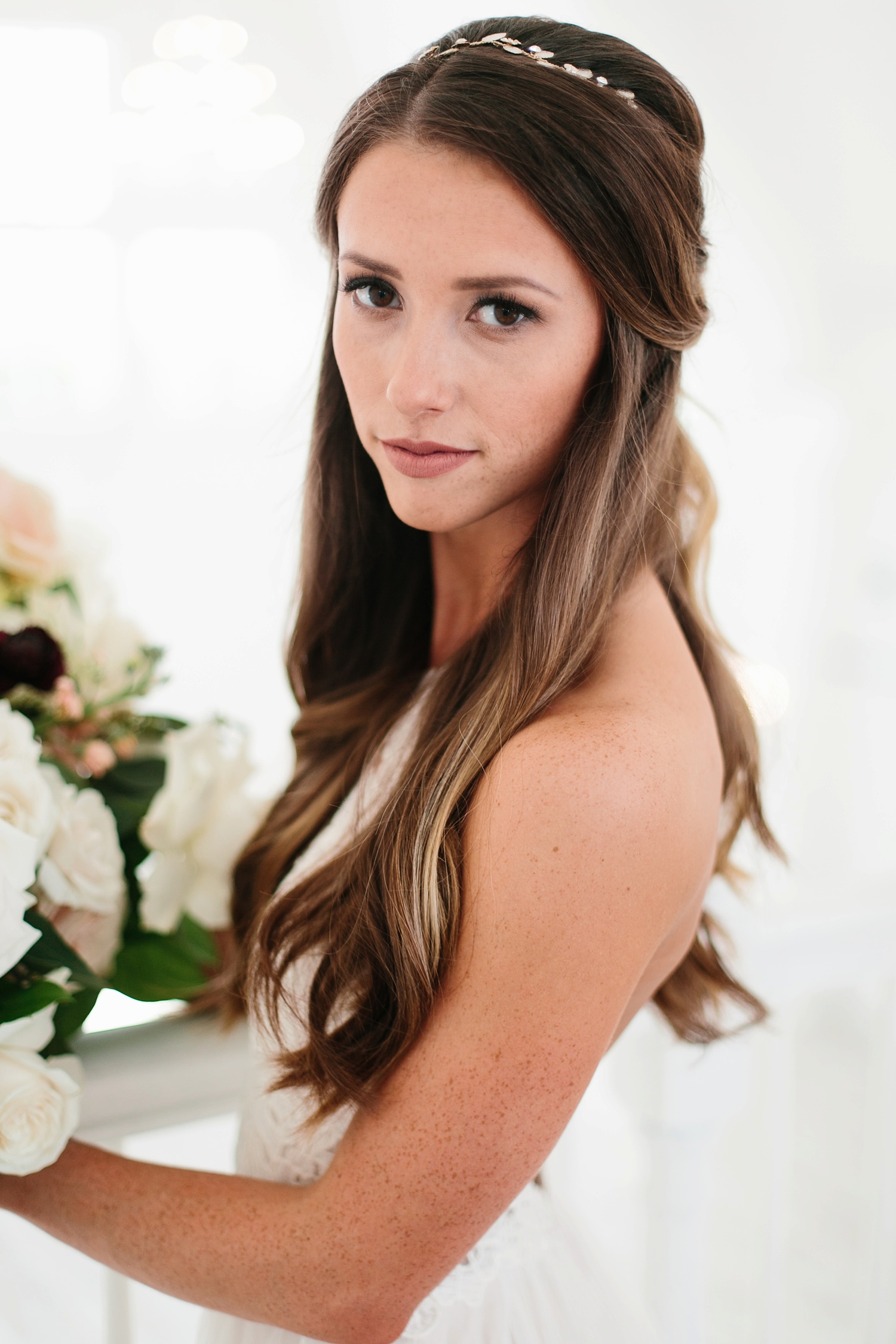 an all white minimialist style bridal session with burgundy and blush accents at The Nest at Ruth Farms in Ponder, Texas by North Texas Wedding Photographer Rachel Meagan Photography046