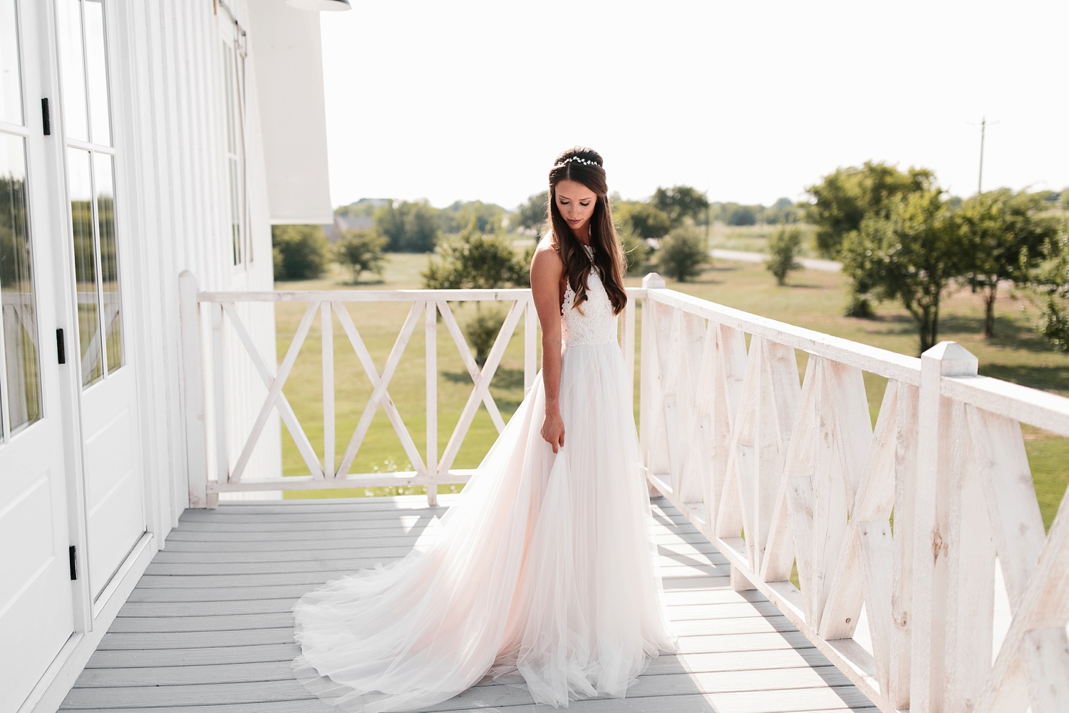 an all white minimialist style bridal session with burgundy and blush accents at The Nest at Ruth Farms in Ponder, Texas by North Texas Wedding Photographer Rachel Meagan Photography069