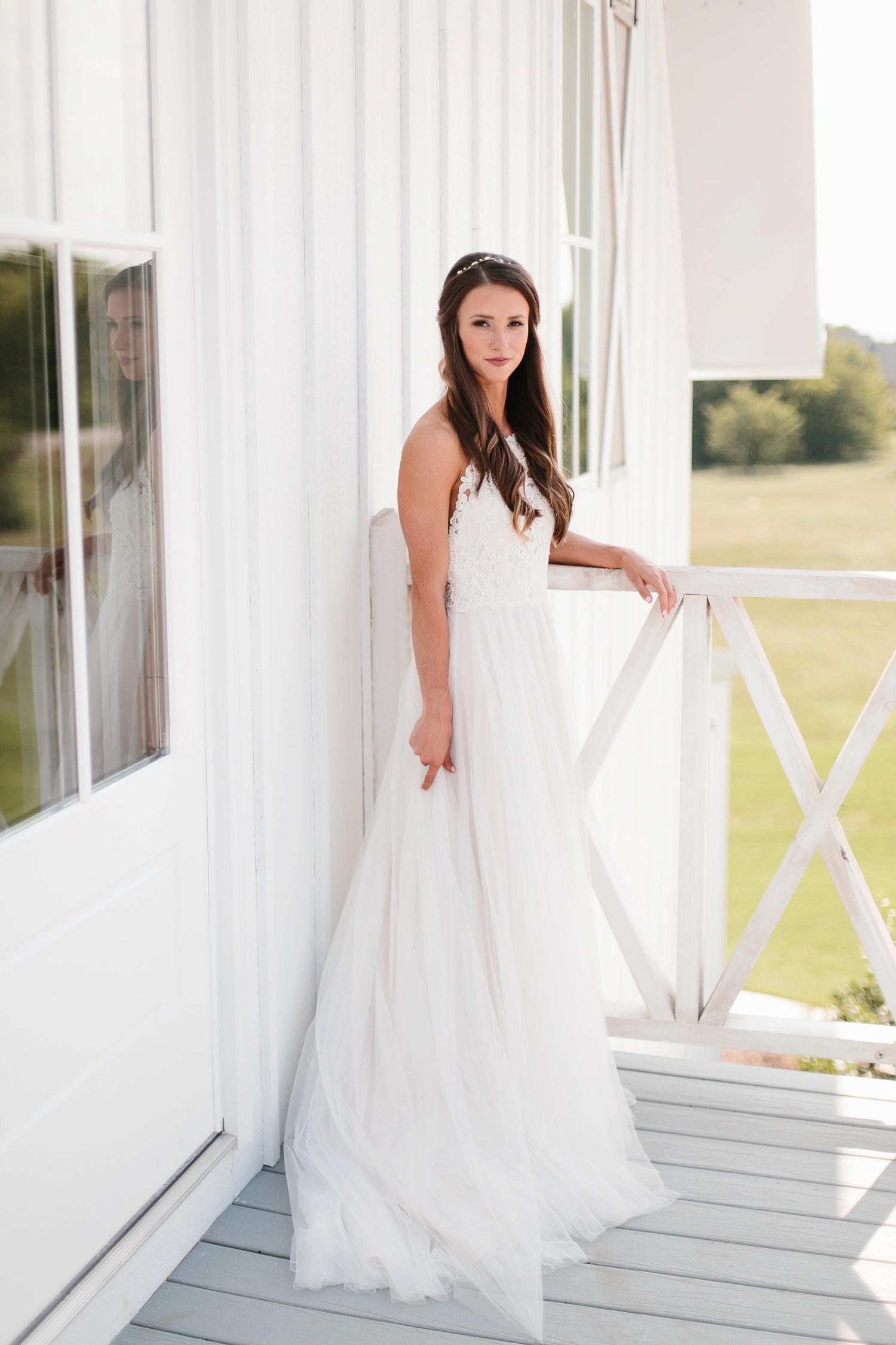 an all white minimialist style bridal session with burgundy and blush accents at The Nest at Ruth Farms in Ponder, Texas by North Texas Wedding Photographer Rachel Meagan Photography075