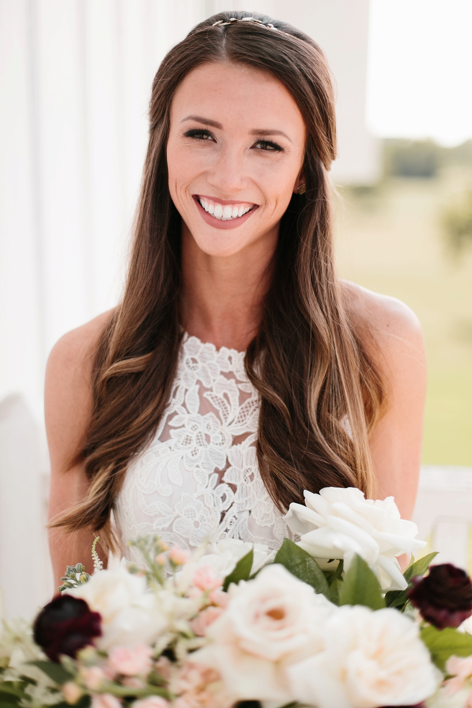 an all white minimialist style bridal session with burgundy and blush accents at The Nest at Ruth Farms in Ponder, Texas by North Texas Wedding Photographer Rachel Meagan Photography083