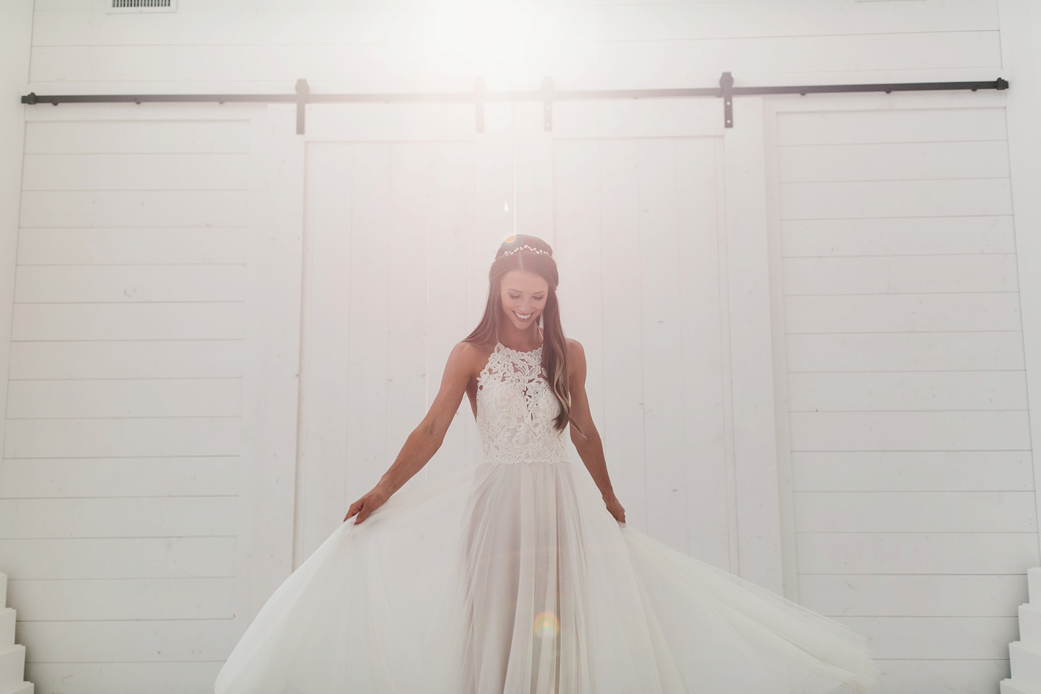 an all white minimialist style bridal session with burgundy and blush accents at The Nest at Ruth Farms in Ponder, Texas by North Texas Wedding Photographer Rachel Meagan Photography124