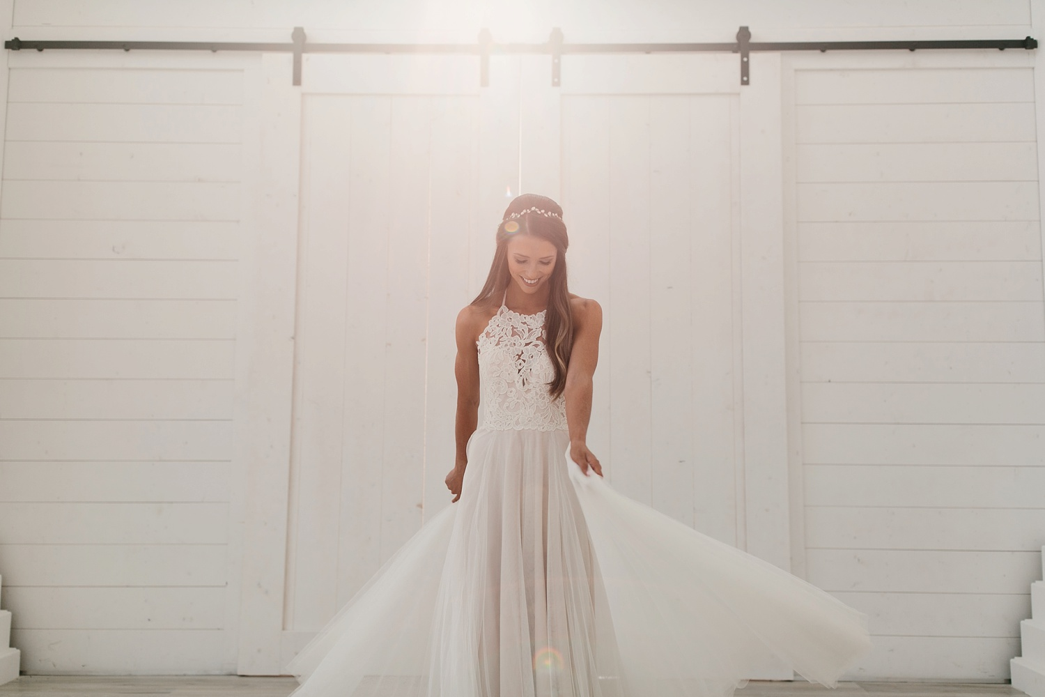 an all white minimialist style bridal session with burgundy and blush accents at The Nest at Ruth Farms in Ponder, Texas by North Texas Wedding Photographer Rachel Meagan Photography125