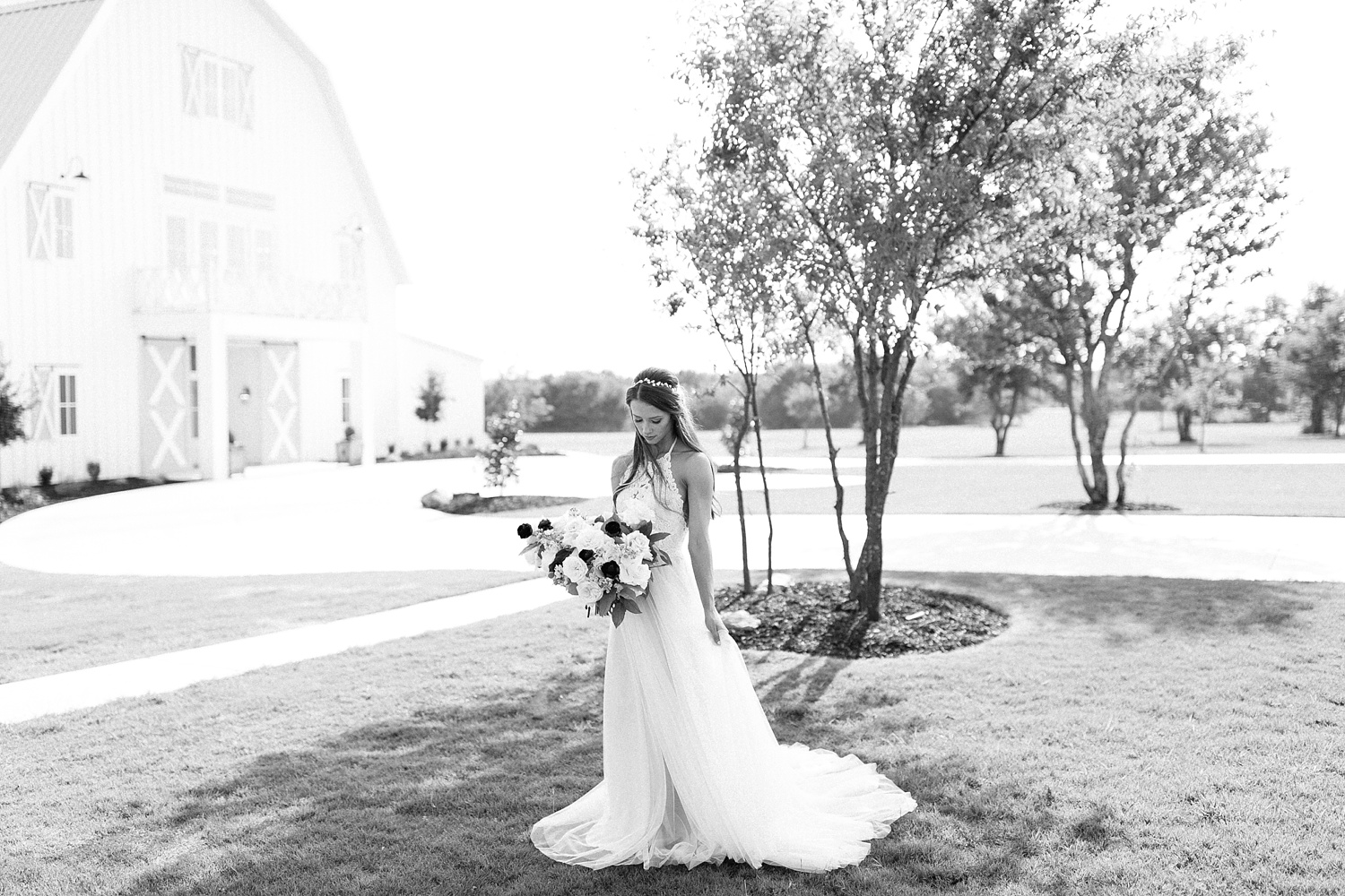 an all white minimialist style bridal session with burgundy and blush accents at The Nest at Ruth Farms in Ponder, Texas by North Texas Wedding Photographer Rachel Meagan Photography132