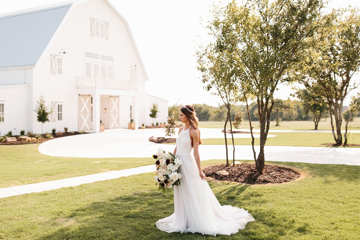 an all white minimialist style bridal session with burgundy and blush accents at The Nest at Ruth Farms in Ponder, Texas by North Texas Wedding Photographer Rachel Meagan Photography135
