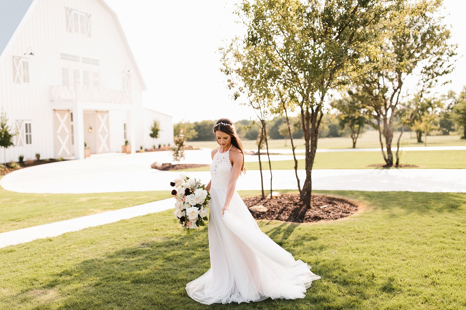 an all white minimialist style bridal session with burgundy and blush accents at The Nest at Ruth Farms in Ponder, Texas by North Texas Wedding Photographer Rachel Meagan Photography138