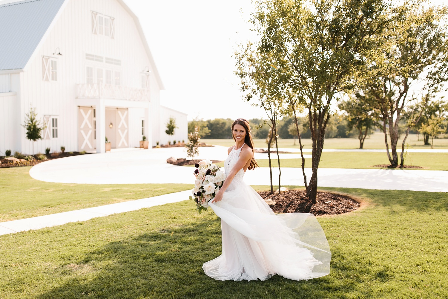 an all white minimialist style bridal session with burgundy and blush accents at The Nest at Ruth Farms in Ponder, Texas by North Texas Wedding Photographer Rachel Meagan Photography139