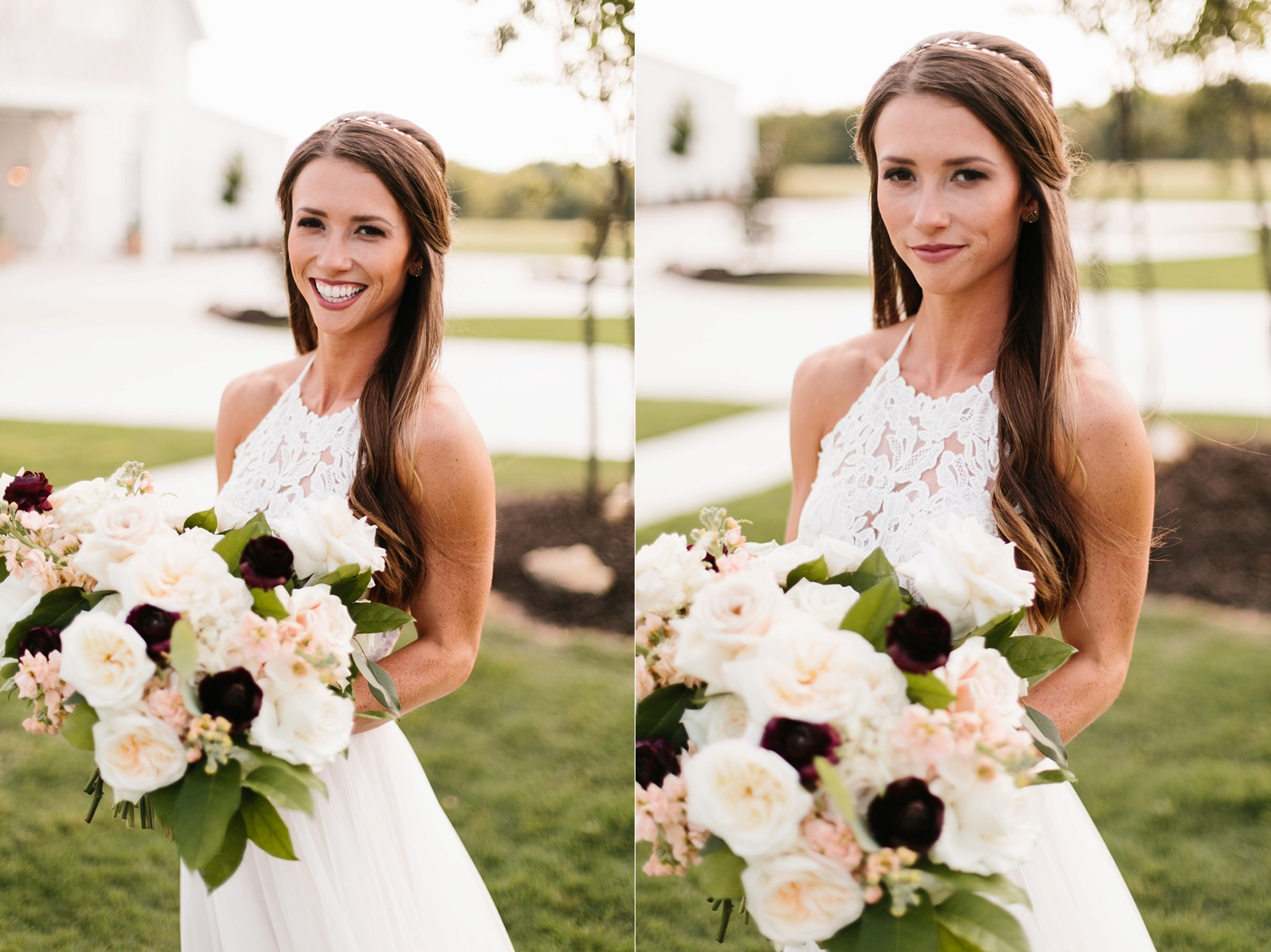 an all white minimialist style bridal session with burgundy and blush accents at The Nest at Ruth Farms in Ponder, Texas by North Texas Wedding Photographer Rachel Meagan Photography143