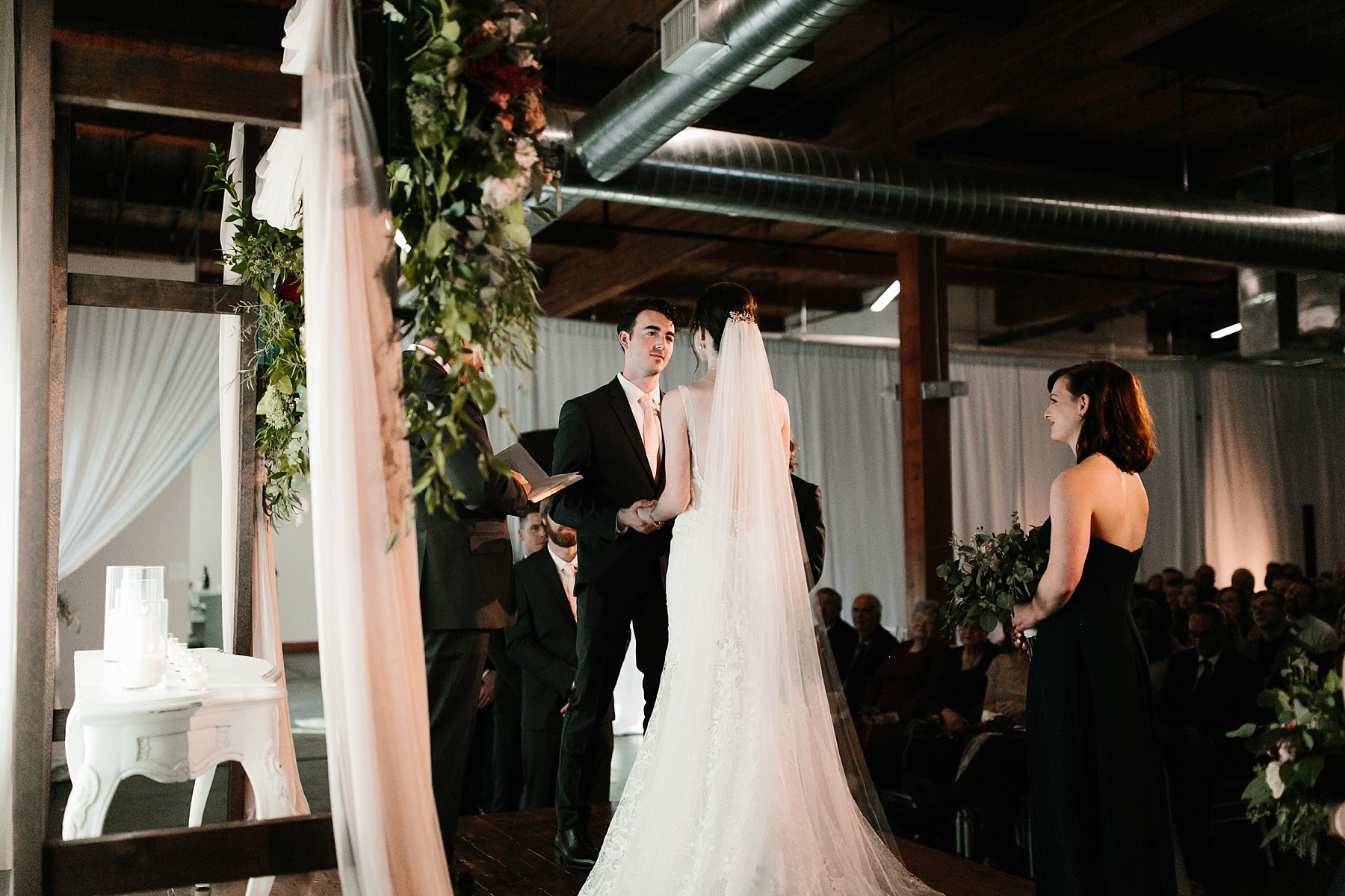 Emily + Caleb _ an elegant, intentional, industrial style wedding with navy + gold accents at 6500 in Dallas, TX by North Texas Wedding Photographer Rachel Meagan Photography _ 088