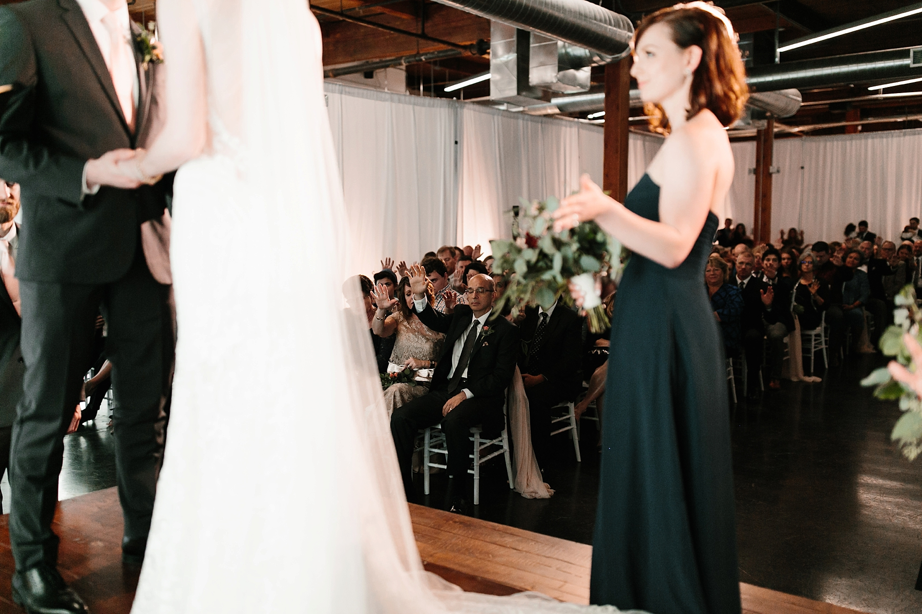 Emily + Caleb _ an elegant, intentional, industrial style wedding with navy + gold accents at 6500 in Dallas, TX by North Texas Wedding Photographer Rachel Meagan Photography _ 096