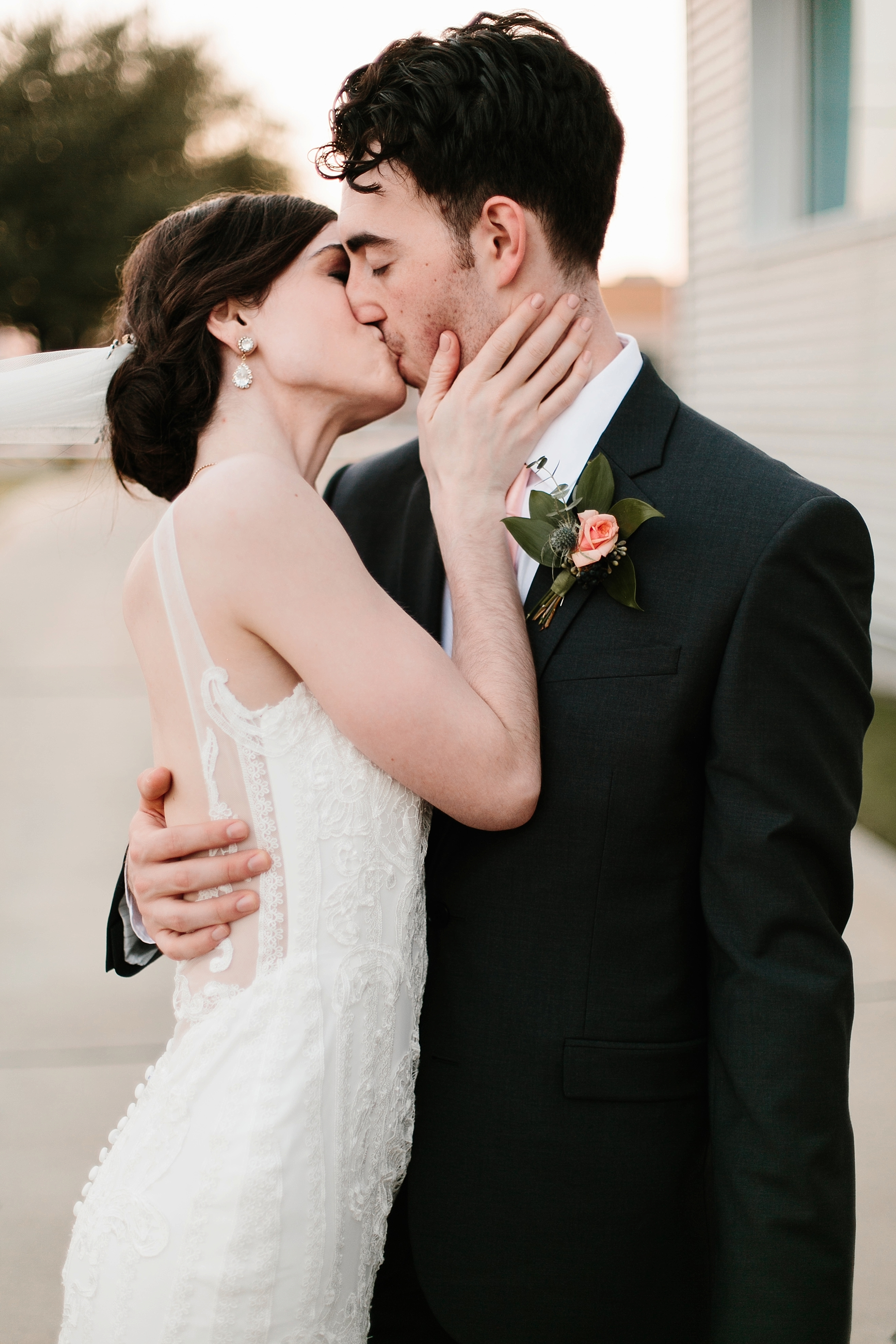 Emily + Caleb _ an elegant, intentional, industrial style wedding with navy + gold accents at 6500 in Dallas, TX by North Texas Wedding Photographer Rachel Meagan Photography _ 123