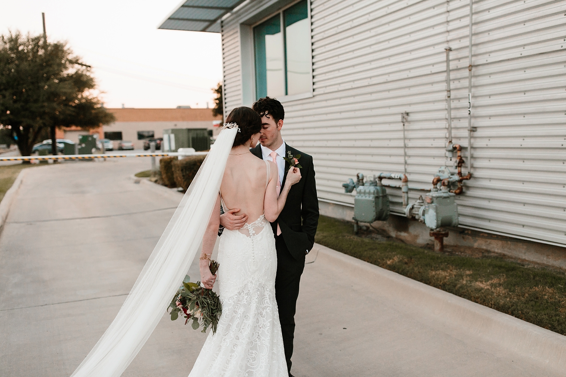Emily + Caleb _ an elegant, intentional, industrial style wedding with navy + gold accents at 6500 in Dallas, TX by North Texas Wedding Photographer Rachel Meagan Photography _ 124
