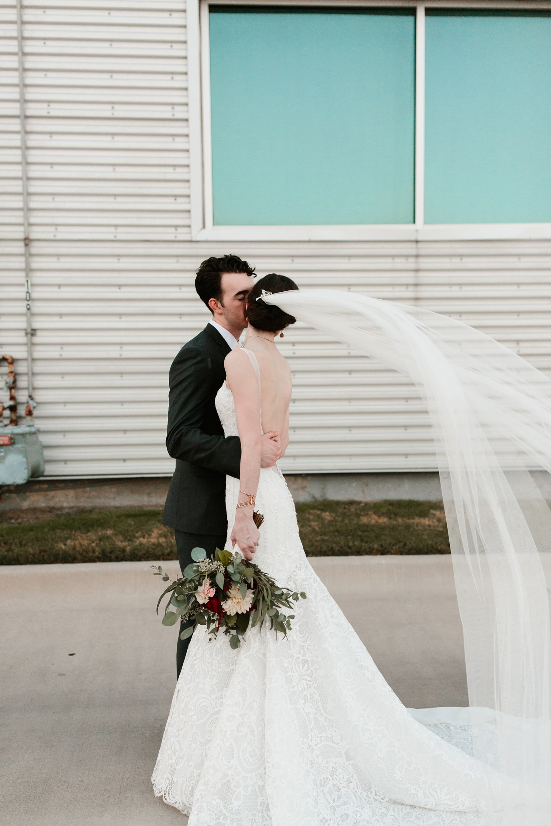 Emily + Caleb _ an elegant, intentional, industrial style wedding with navy + gold accents at 6500 in Dallas, TX by North Texas Wedding Photographer Rachel Meagan Photography _ 126