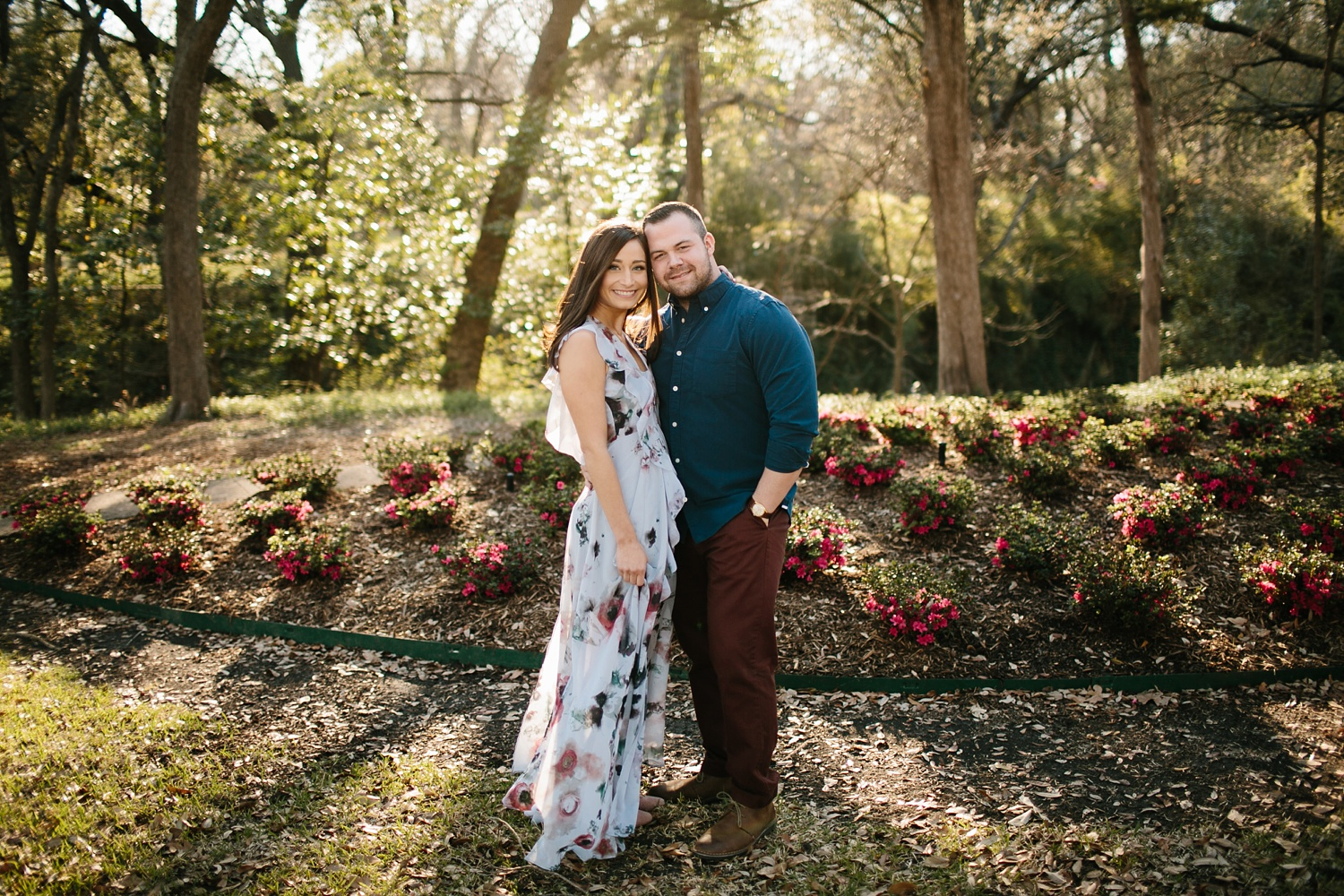 Kadee + Tyler _ a forest and city skyline engagement shoot in Dallas by North Texas Wedding Photographer Rachel Meagan Photography_01