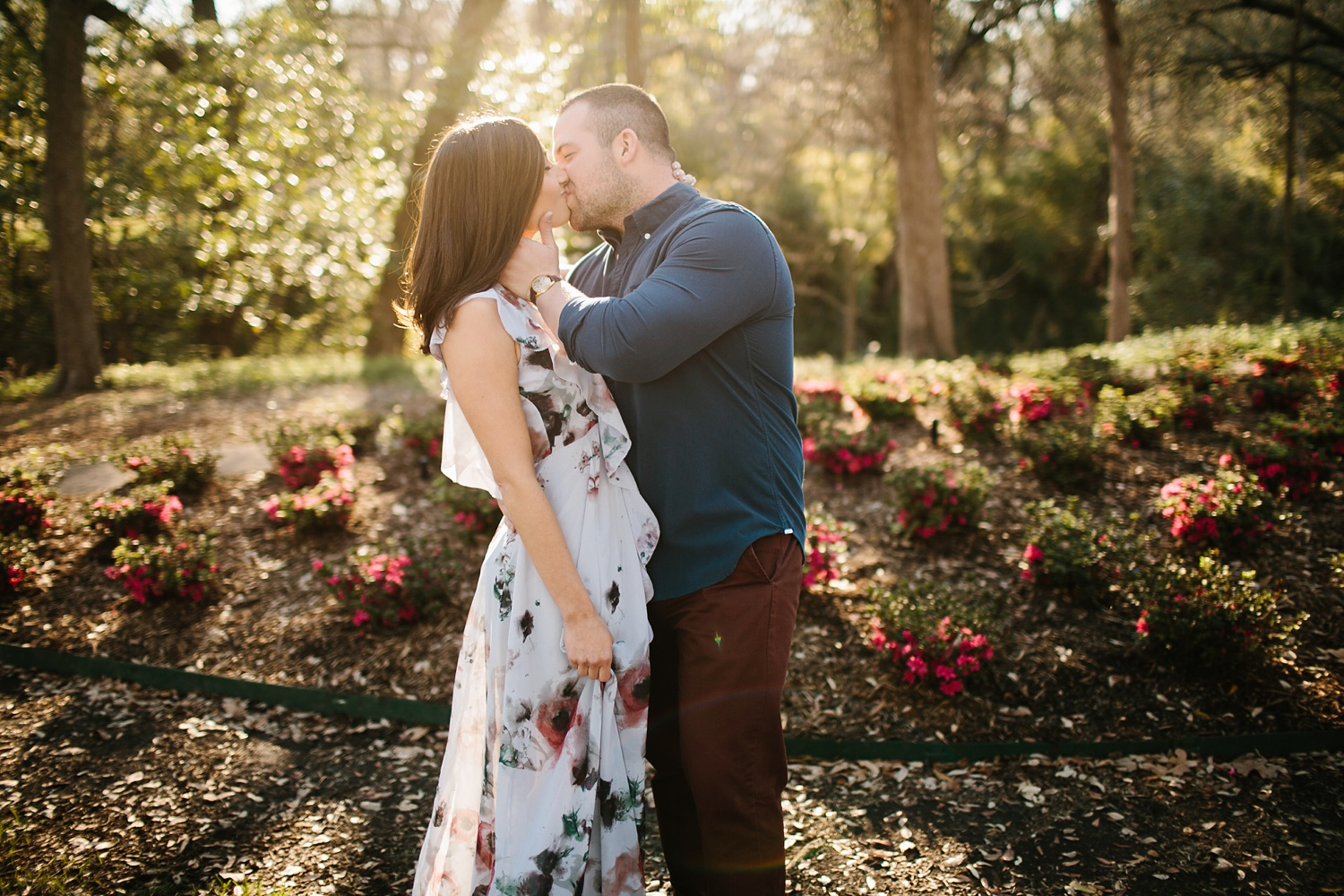 Kadee + Tyler _ a forest and city skyline engagement shoot in Dallas by North Texas Wedding Photographer Rachel Meagan Photography_02