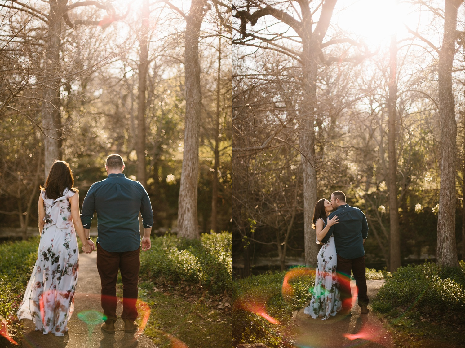 Kadee + Tyler _ a forest and city skyline engagement shoot in Dallas by North Texas Wedding Photographer Rachel Meagan Photography_05
