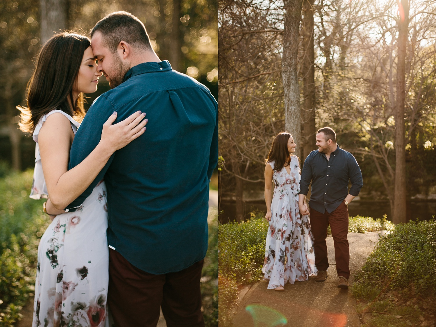 Kadee + Tyler _ a forest and city skyline engagement shoot in Dallas by North Texas Wedding Photographer Rachel Meagan Photography_06