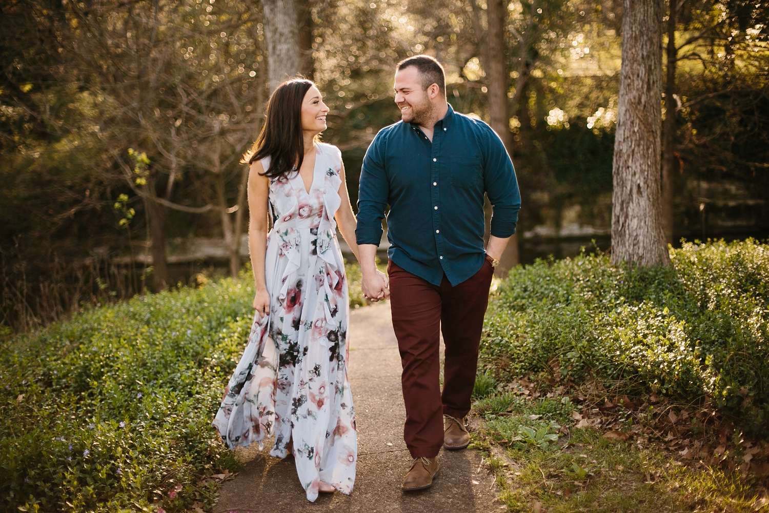 Kadee + Tyler _ a forest and city skyline engagement shoot in Dallas by North Texas Wedding Photographer Rachel Meagan Photography_07