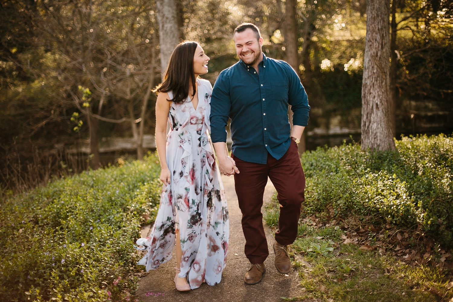 Kadee + Tyler _ a forest and city skyline engagement shoot in Dallas by North Texas Wedding Photographer Rachel Meagan Photography_08