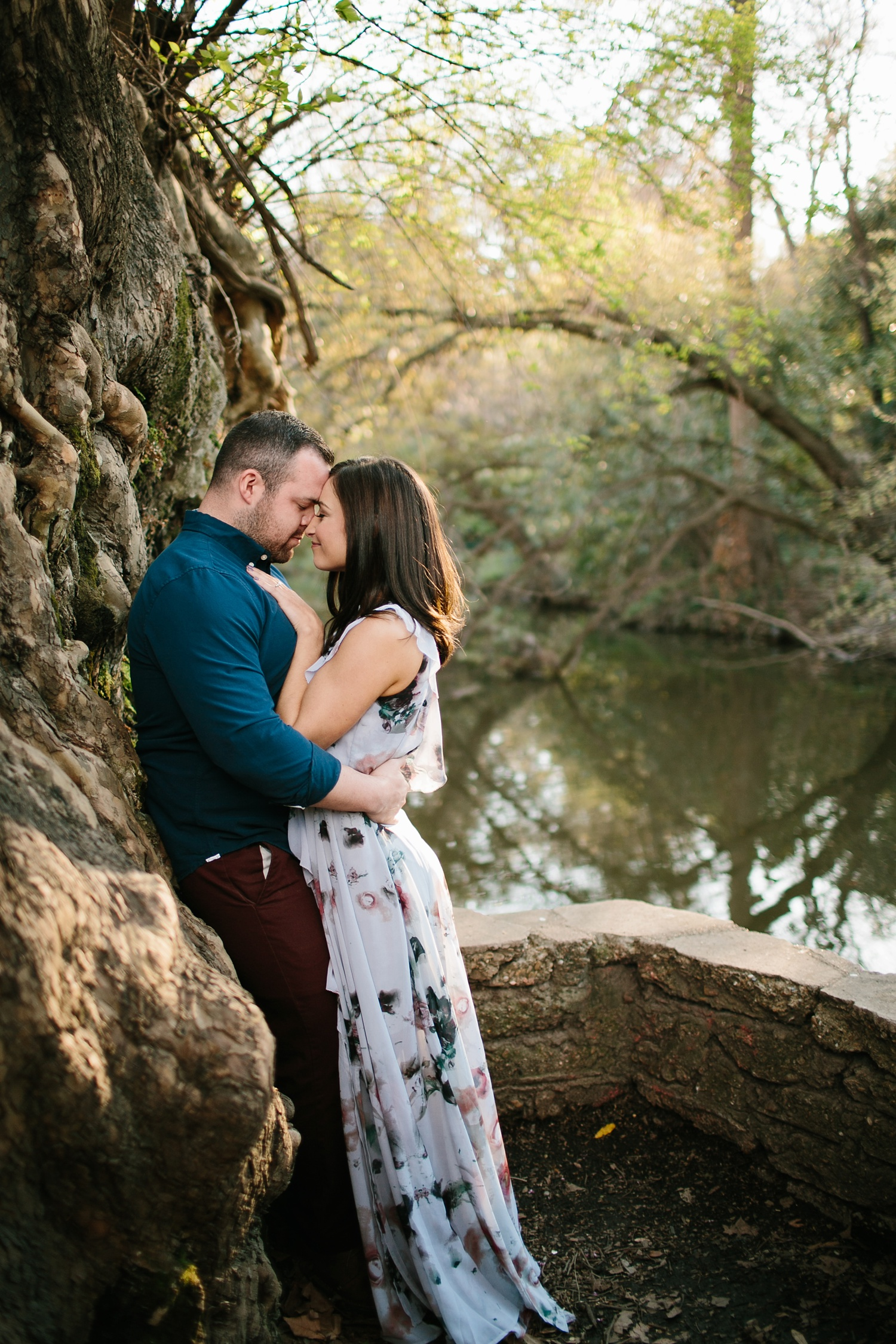 Kadee + Tyler _ a forest and city skyline engagement shoot in Dallas by North Texas Wedding Photographer Rachel Meagan Photography_12