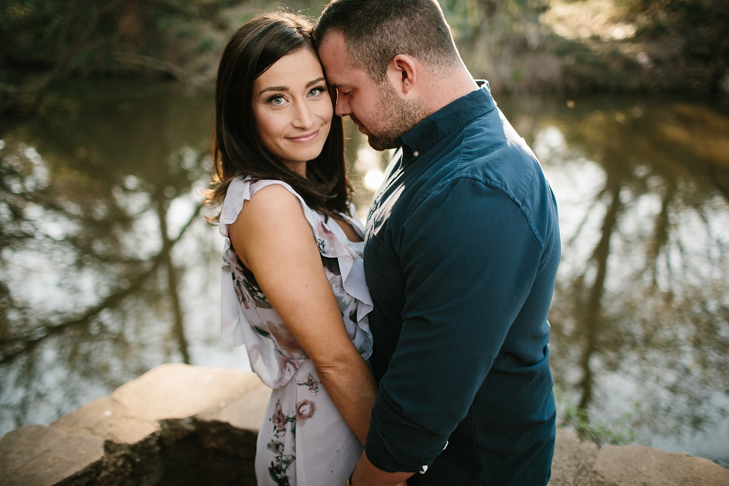 Kadee + Tyler _ a forest and city skyline engagement shoot in Dallas by North Texas Wedding Photographer Rachel Meagan Photography_13