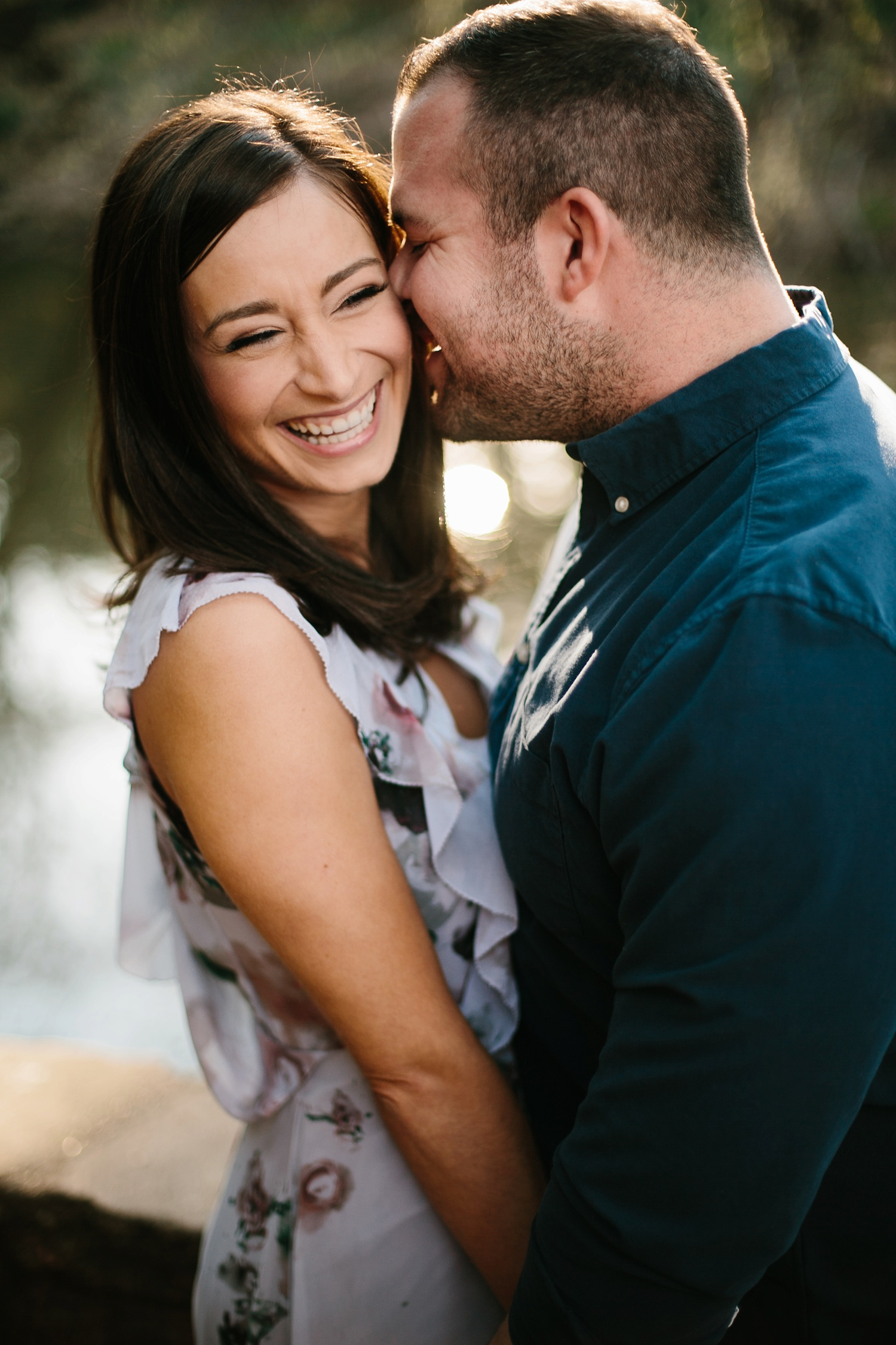 Kadee + Tyler _ a forest and city skyline engagement shoot in Dallas by North Texas Wedding Photographer Rachel Meagan Photography_15