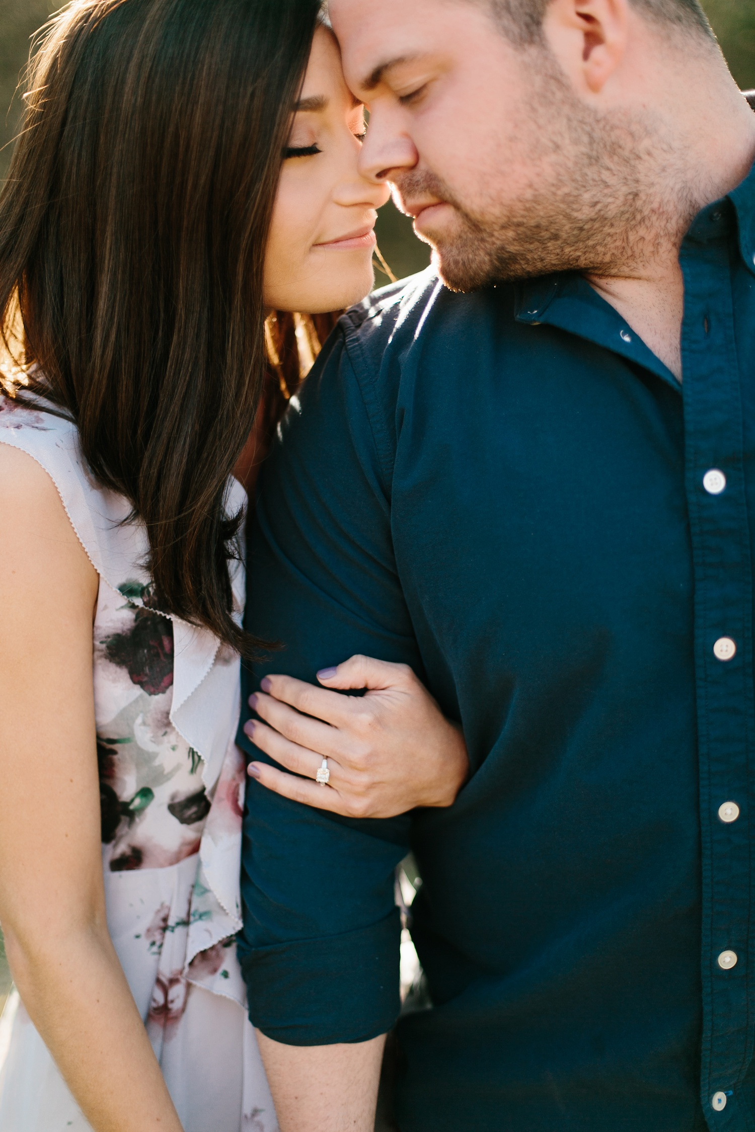 Kadee + Tyler _ a forest and city skyline engagement shoot in Dallas by North Texas Wedding Photographer Rachel Meagan Photography_18