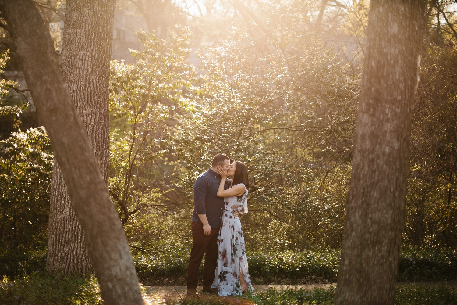 Kadee + Tyler _ a forest and city skyline engagement shoot in Dallas by North Texas Wedding Photographer Rachel Meagan Photography_20