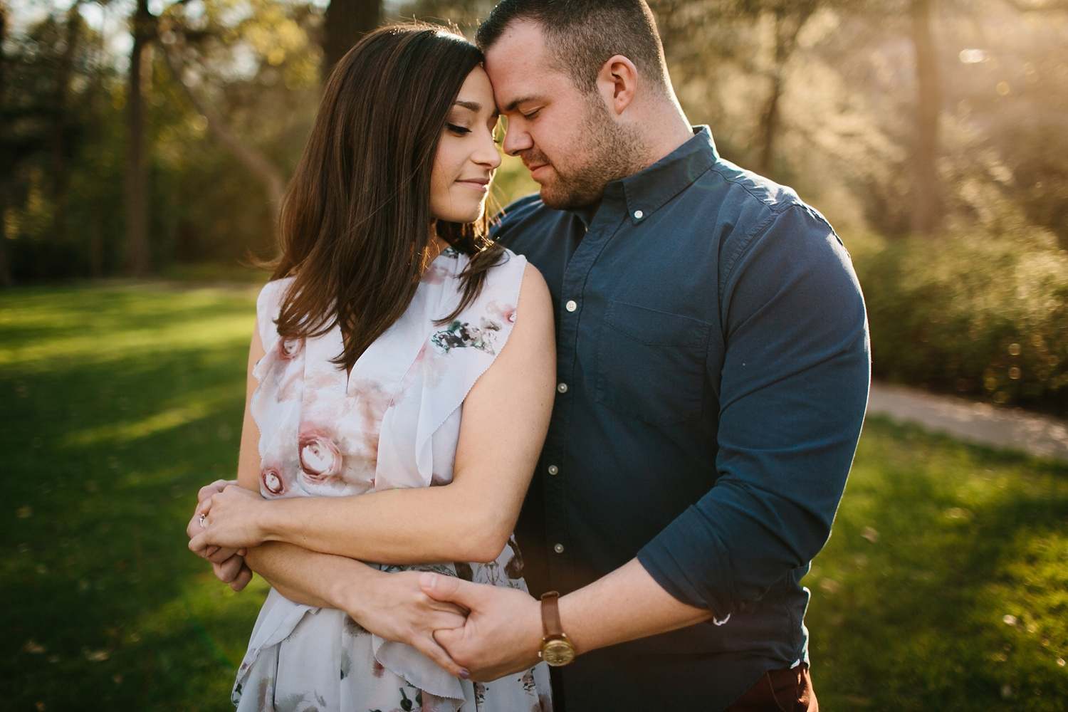 Kadee + Tyler _ a forest and city skyline engagement shoot in Dallas by North Texas Wedding Photographer Rachel Meagan Photography_26