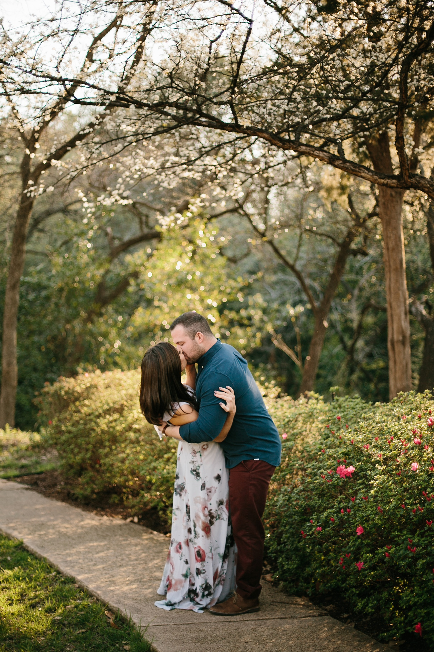 Kadee + Tyler _ a forest and city skyline engagement shoot in Dallas by North Texas Wedding Photographer Rachel Meagan Photography_27