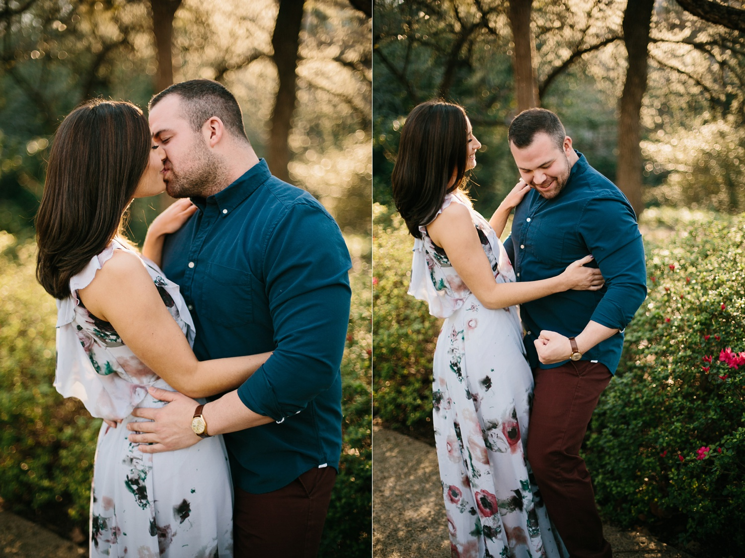 Kadee + Tyler _ a forest and city skyline engagement shoot in Dallas by North Texas Wedding Photographer Rachel Meagan Photography_28