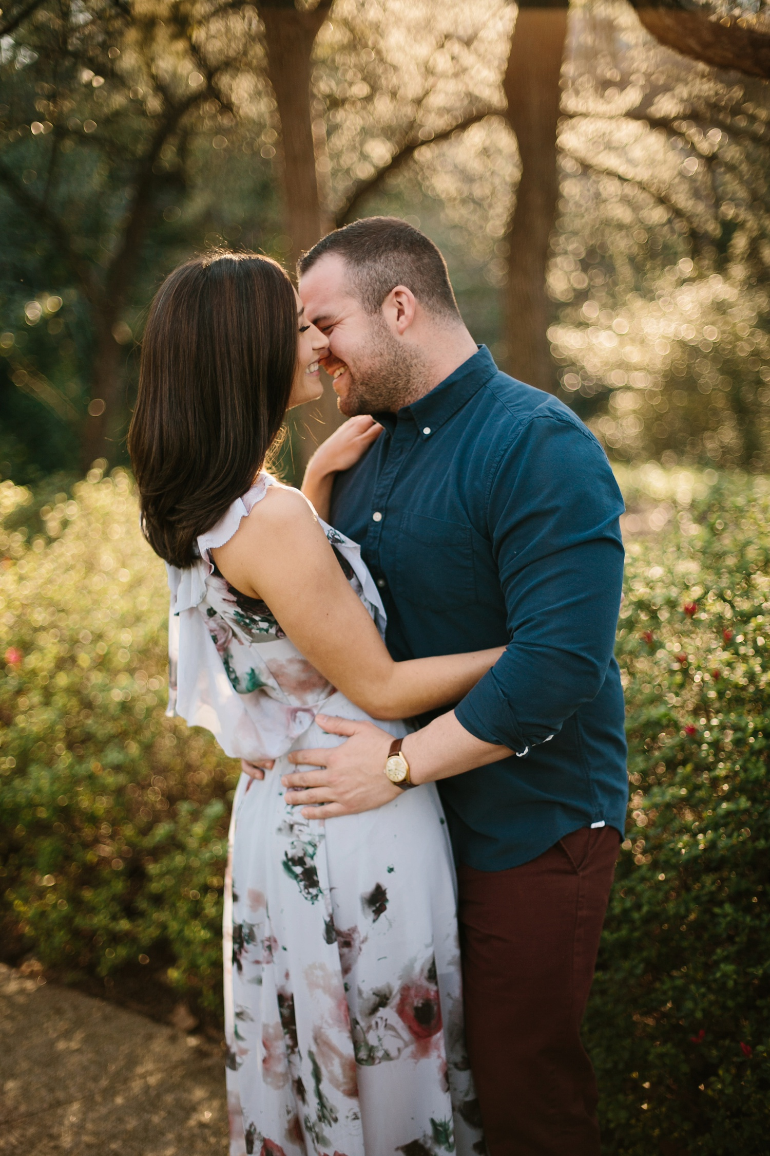 Kadee + Tyler _ a forest and city skyline engagement shoot in Dallas by North Texas Wedding Photographer Rachel Meagan Photography_29