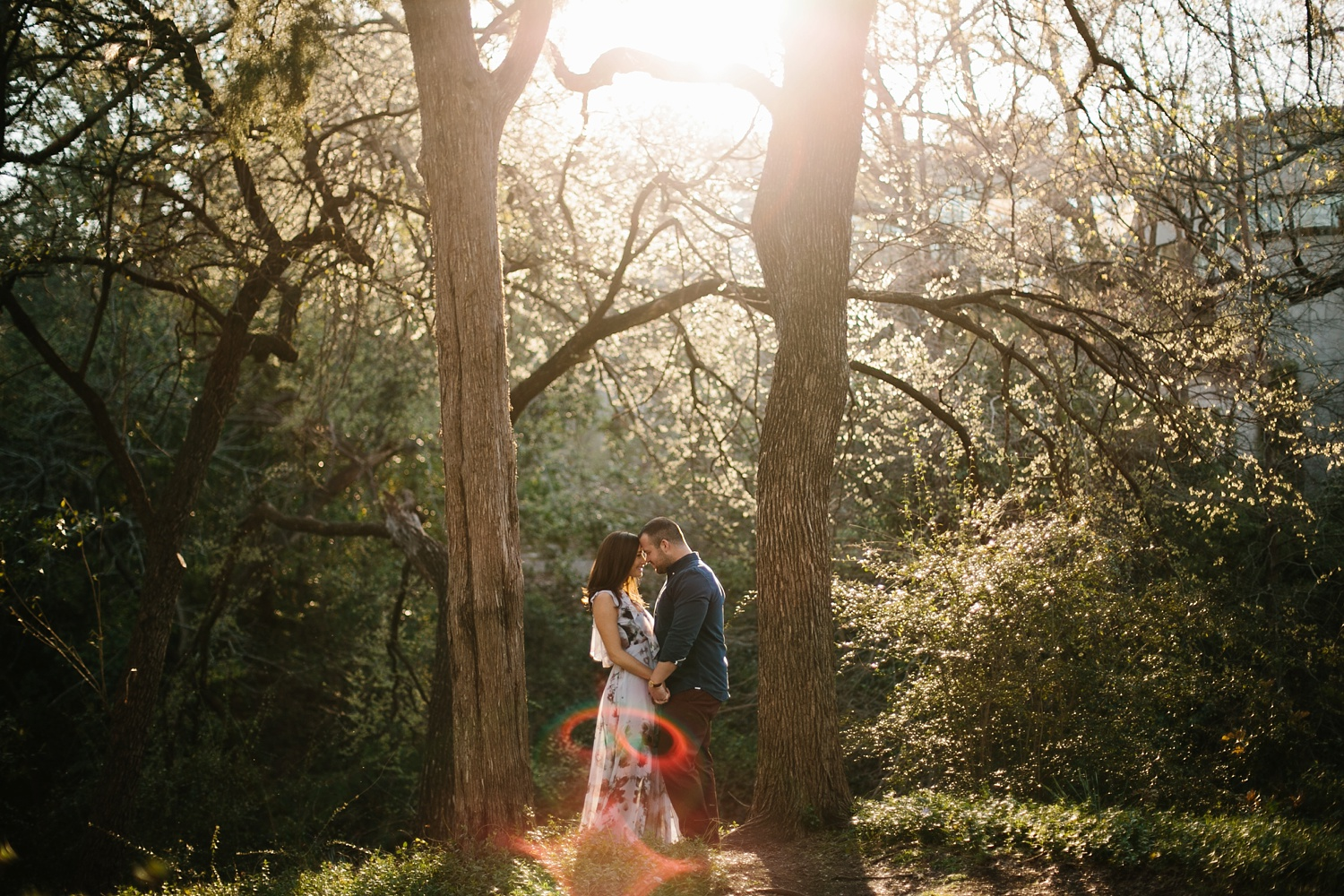 Kadee + Tyler _ a forest and city skyline engagement shoot in Dallas by North Texas Wedding Photographer Rachel Meagan Photography_30