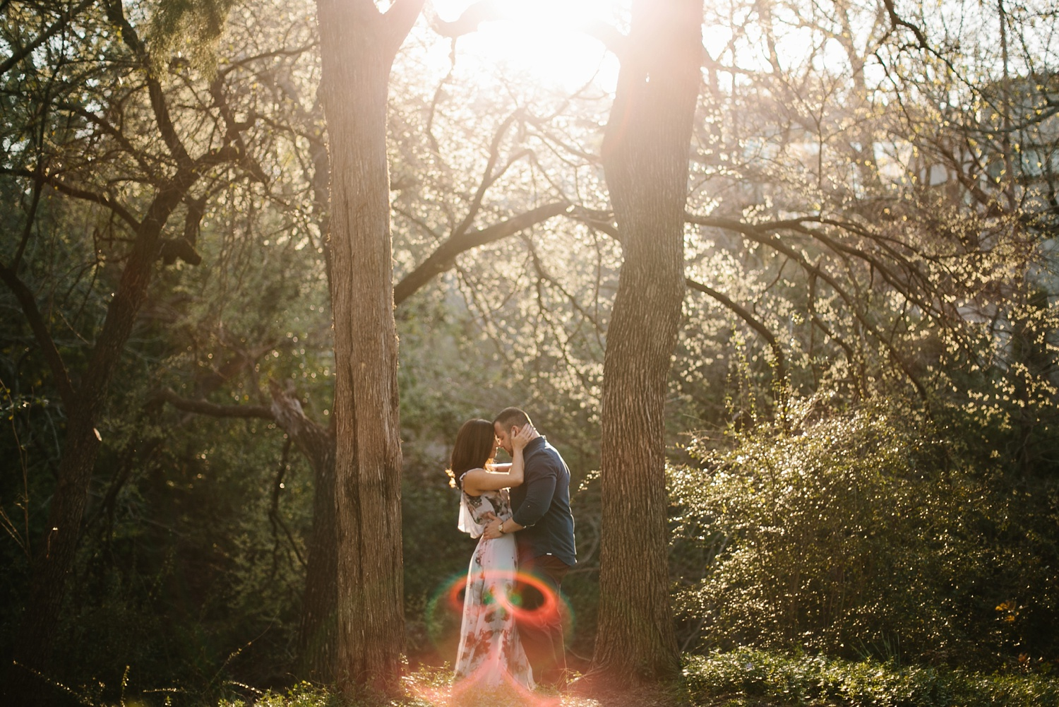 Kadee + Tyler _ a forest and city skyline engagement shoot in Dallas by North Texas Wedding Photographer Rachel Meagan Photography_31