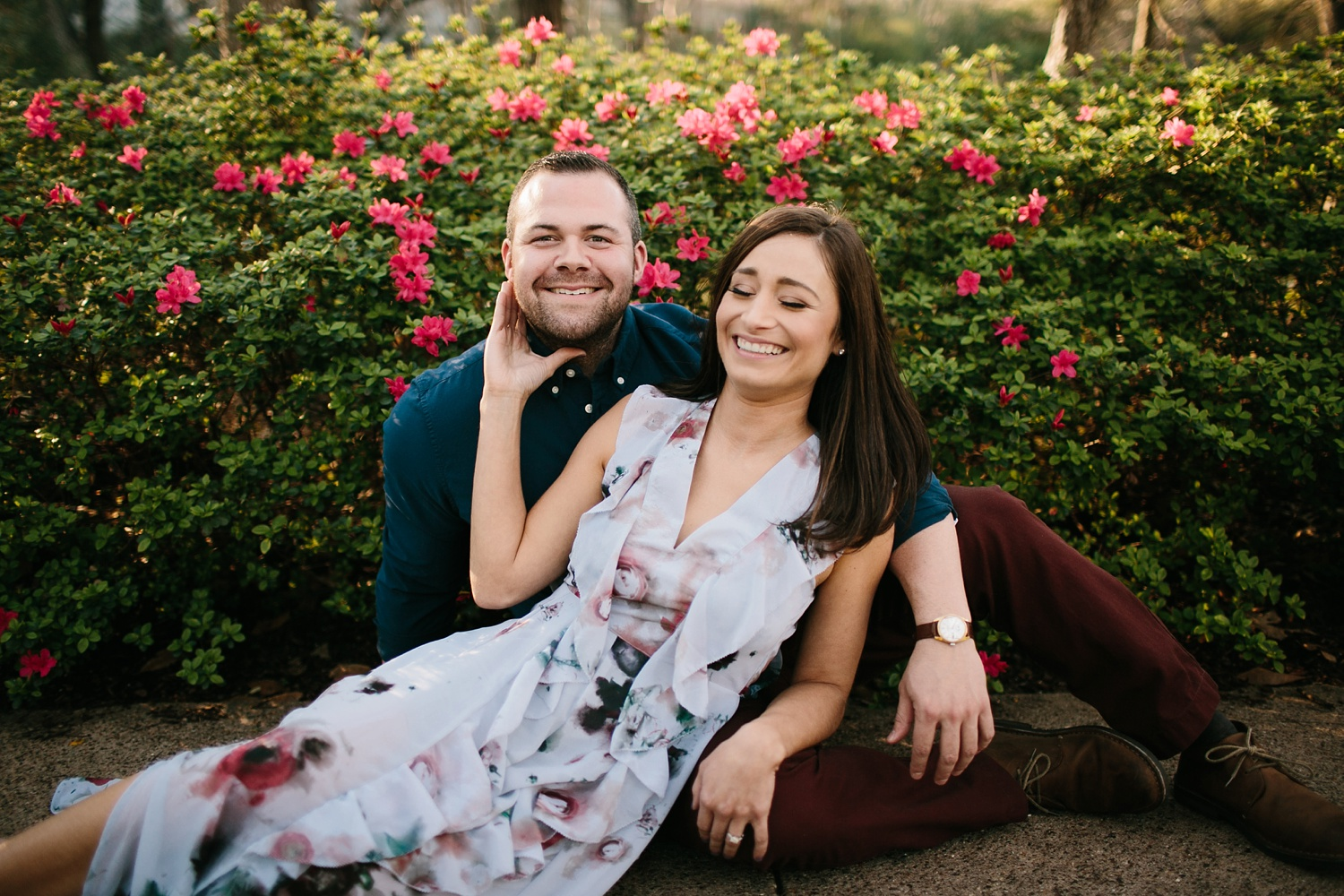 Kadee + Tyler _ a forest and city skyline engagement shoot in Dallas by North Texas Wedding Photographer Rachel Meagan Photography_33