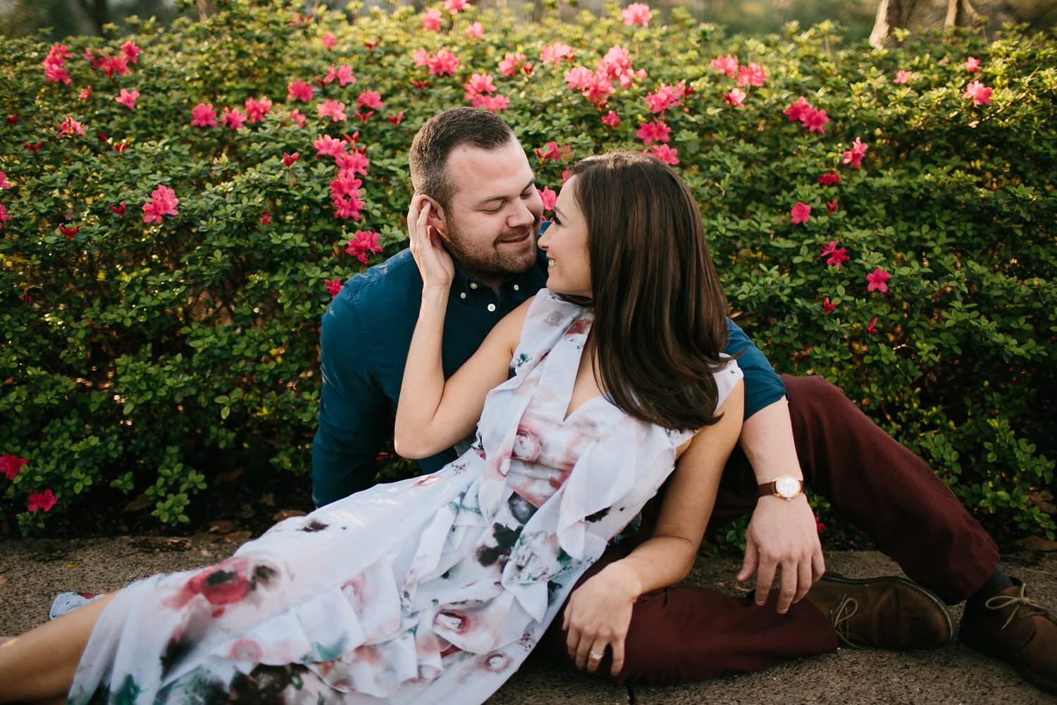 Kadee + Tyler _ a forest and city skyline engagement shoot in Dallas by North Texas Wedding Photographer Rachel Meagan Photography_34