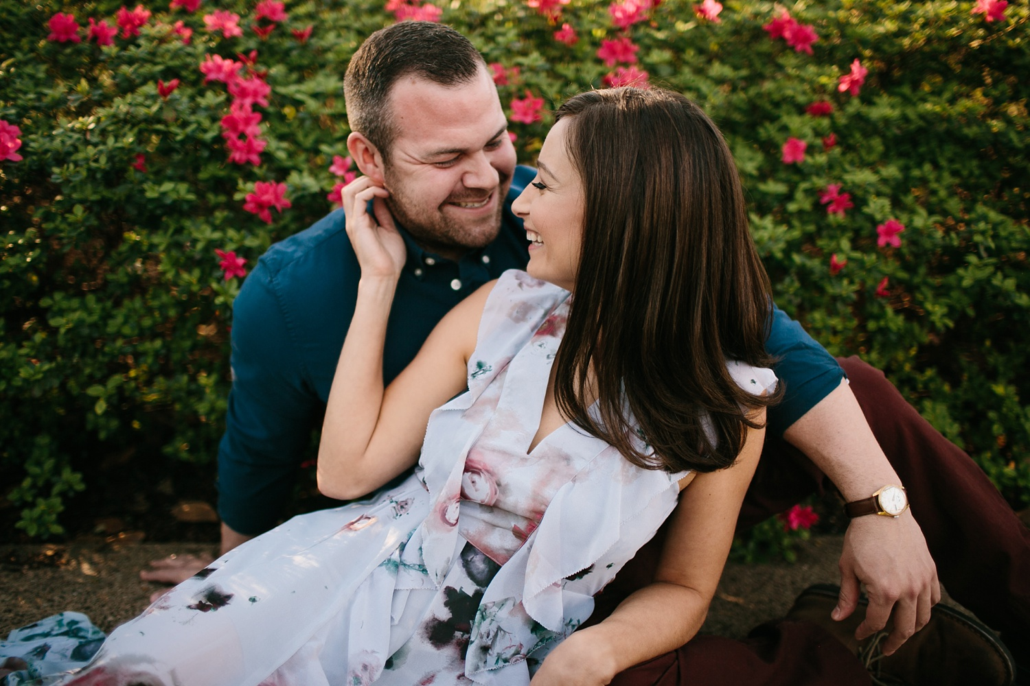 Kadee + Tyler _ a forest and city skyline engagement shoot in Dallas by North Texas Wedding Photographer Rachel Meagan Photography_36