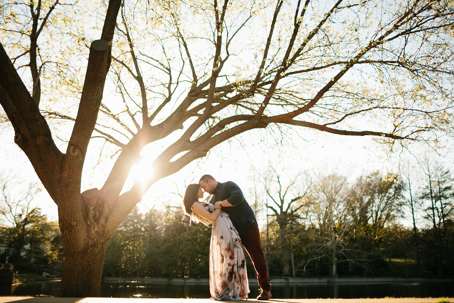 Kadee + Tyler _ a forest and city skyline engagement shoot in Dallas by North Texas Wedding Photographer Rachel Meagan Photography_37