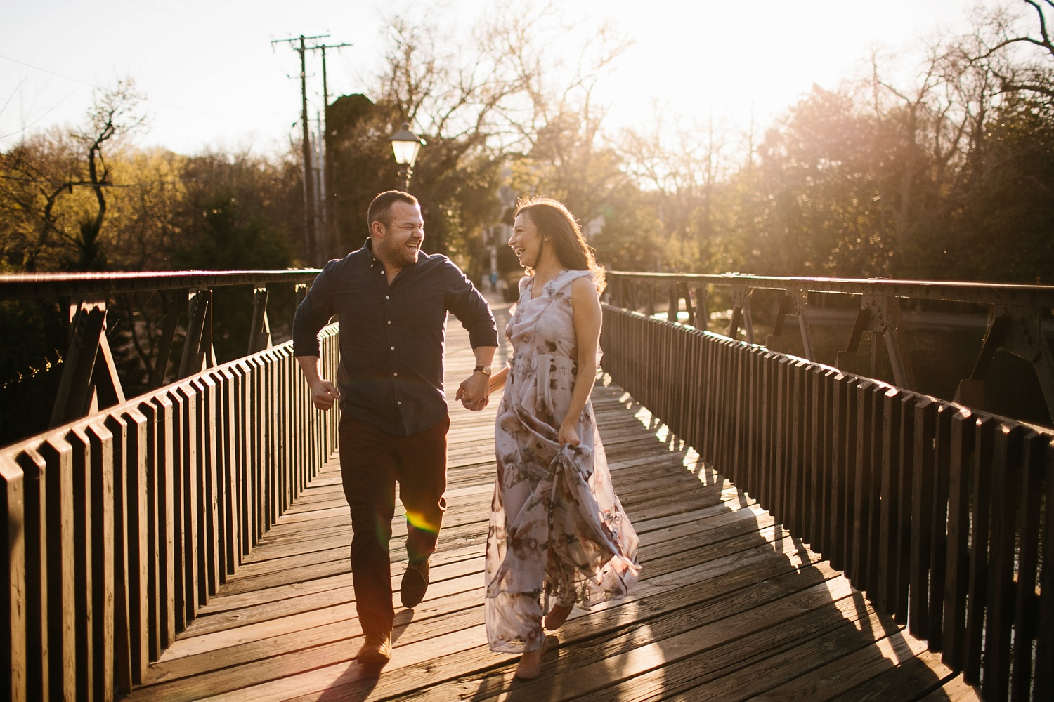 Kadee + Tyler _ a forest and city skyline engagement shoot in Dallas by North Texas Wedding Photographer Rachel Meagan Photography_38