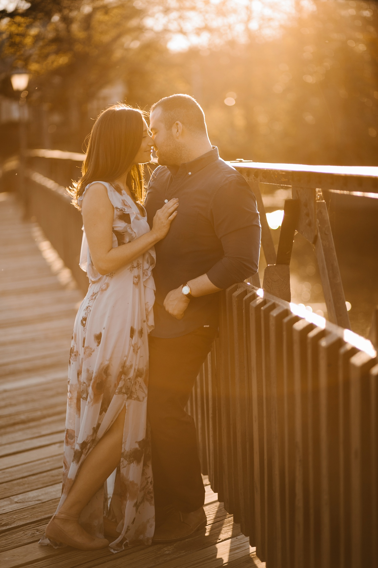 Kadee + Tyler _ a forest and city skyline engagement shoot in Dallas by North Texas Wedding Photographer Rachel Meagan Photography_39
