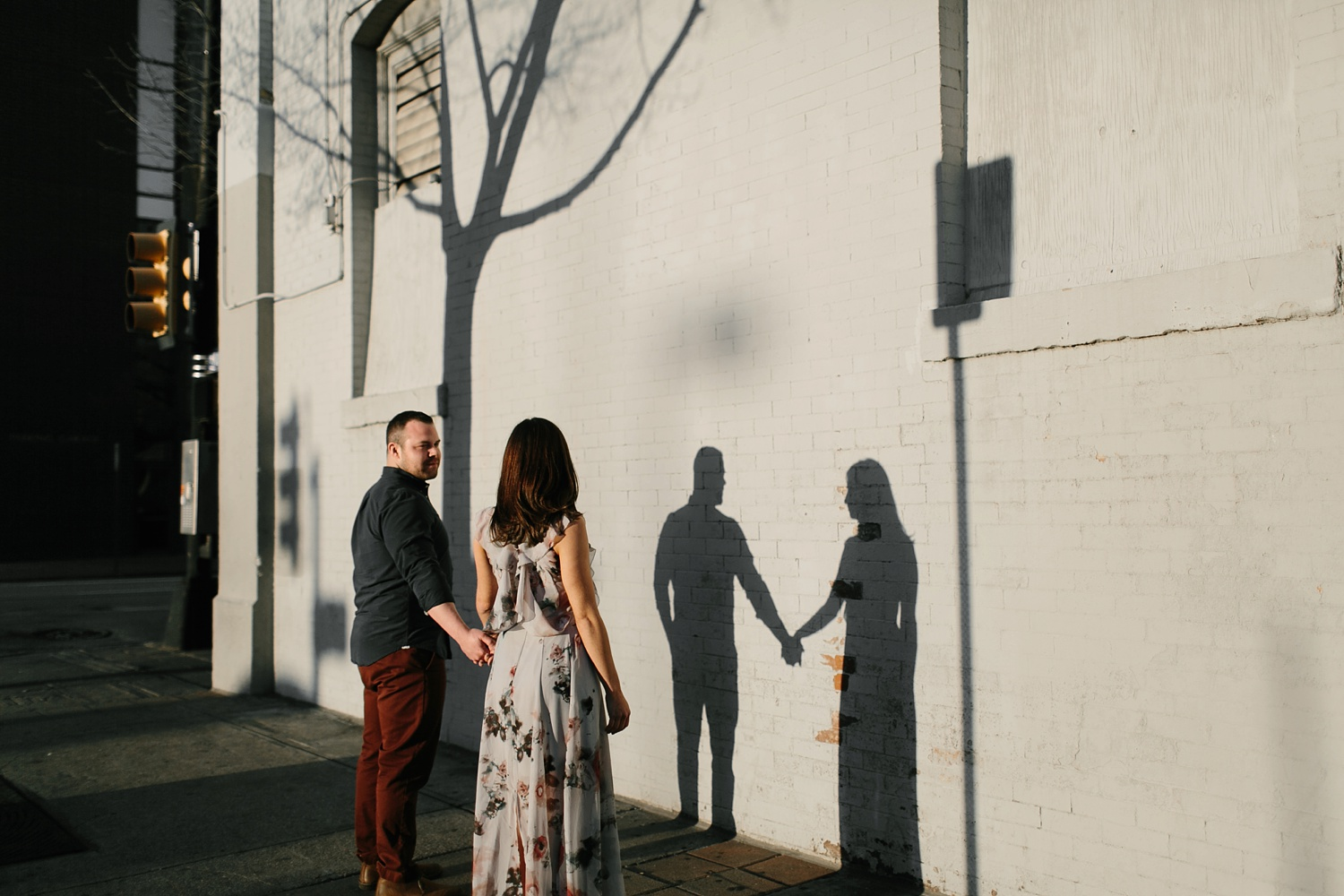 Kadee + Tyler _ a forest and city skyline engagement shoot in Dallas by North Texas Wedding Photographer Rachel Meagan Photography_42