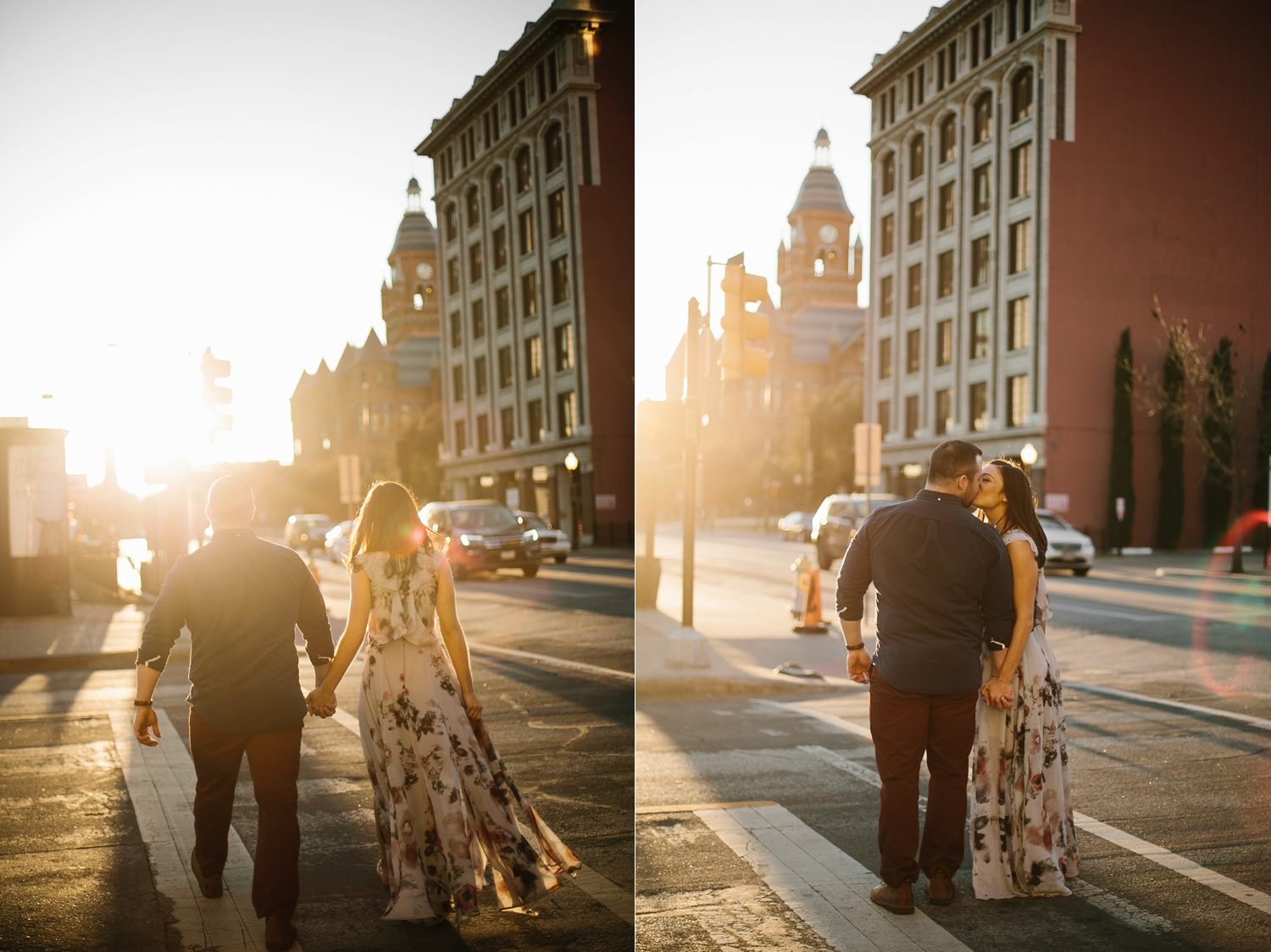 Kadee + Tyler _ a forest and city skyline engagement shoot in Dallas by North Texas Wedding Photographer Rachel Meagan Photography_43
